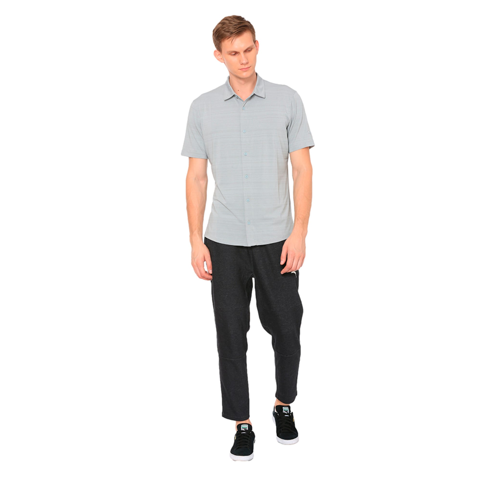 Thumbnail 3 of Breezer Short Sleeve Men's Golf Shirt, Quarry, medium-IND