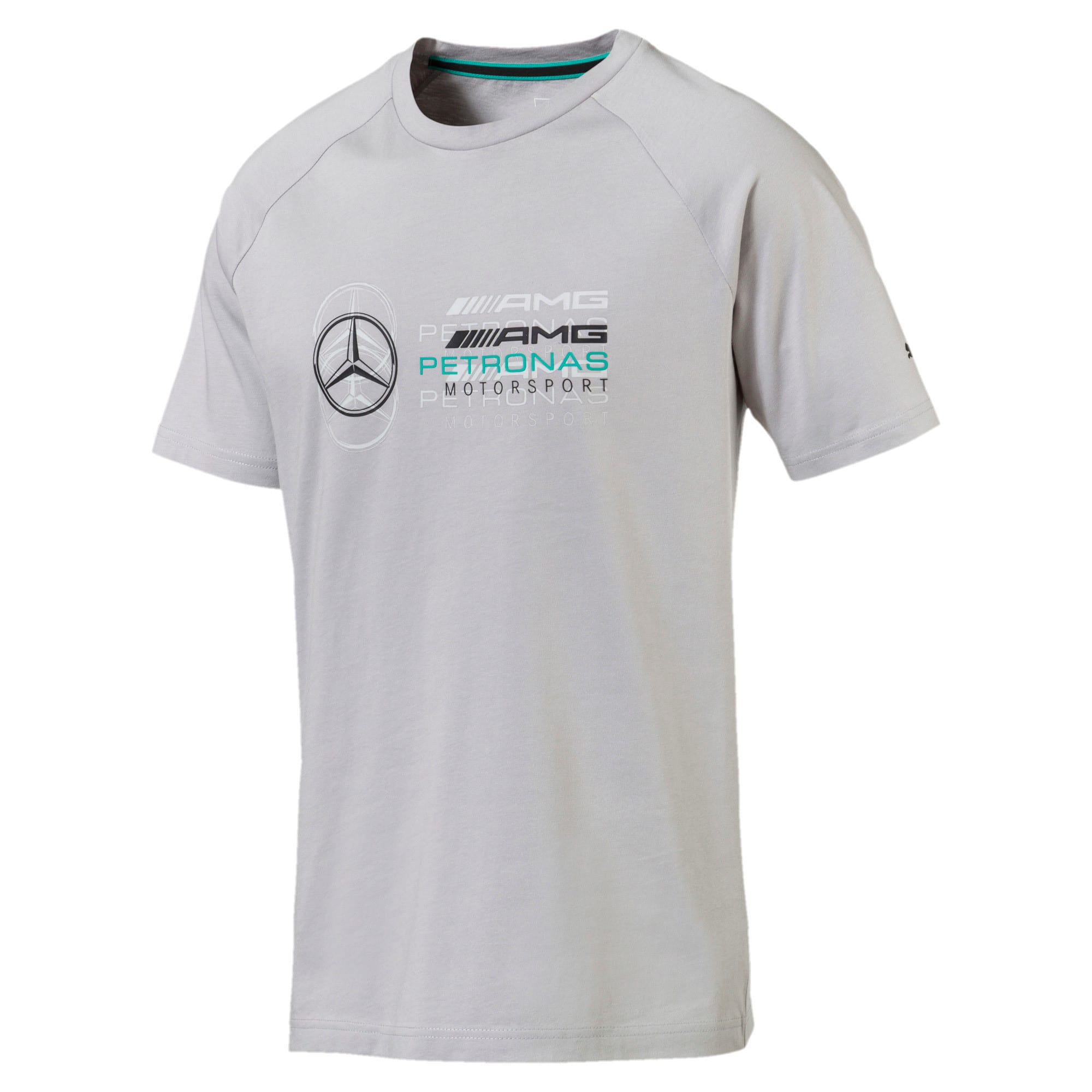 Thumbnail 4 of MERCEDES AMG PETRONAS Men's Logo T-Shirt, Mercedes Team Silver, medium