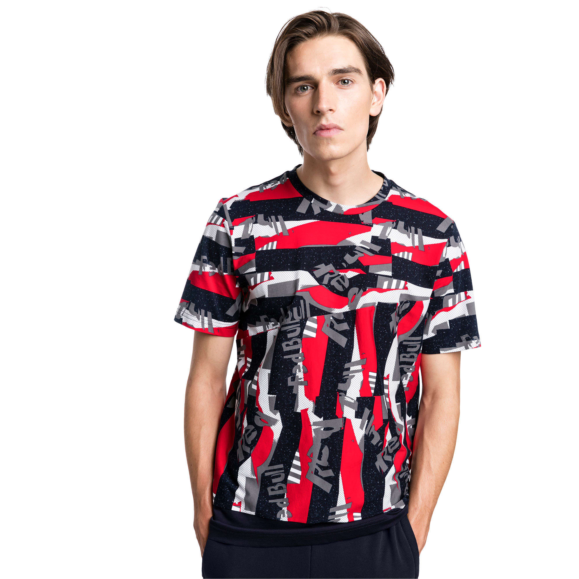 Thumbnail 1 of Red Bull Racing Lifestyle All-Over Printed Men's Tee, Chinese Red, medium