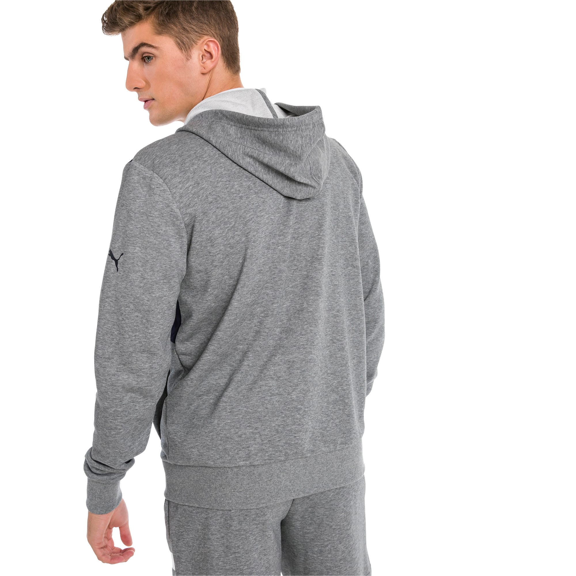Thumbnail 1 of Red Bull Racing Hooded Men's Sweat Jacket, Medium Gray Heather, medium-IND