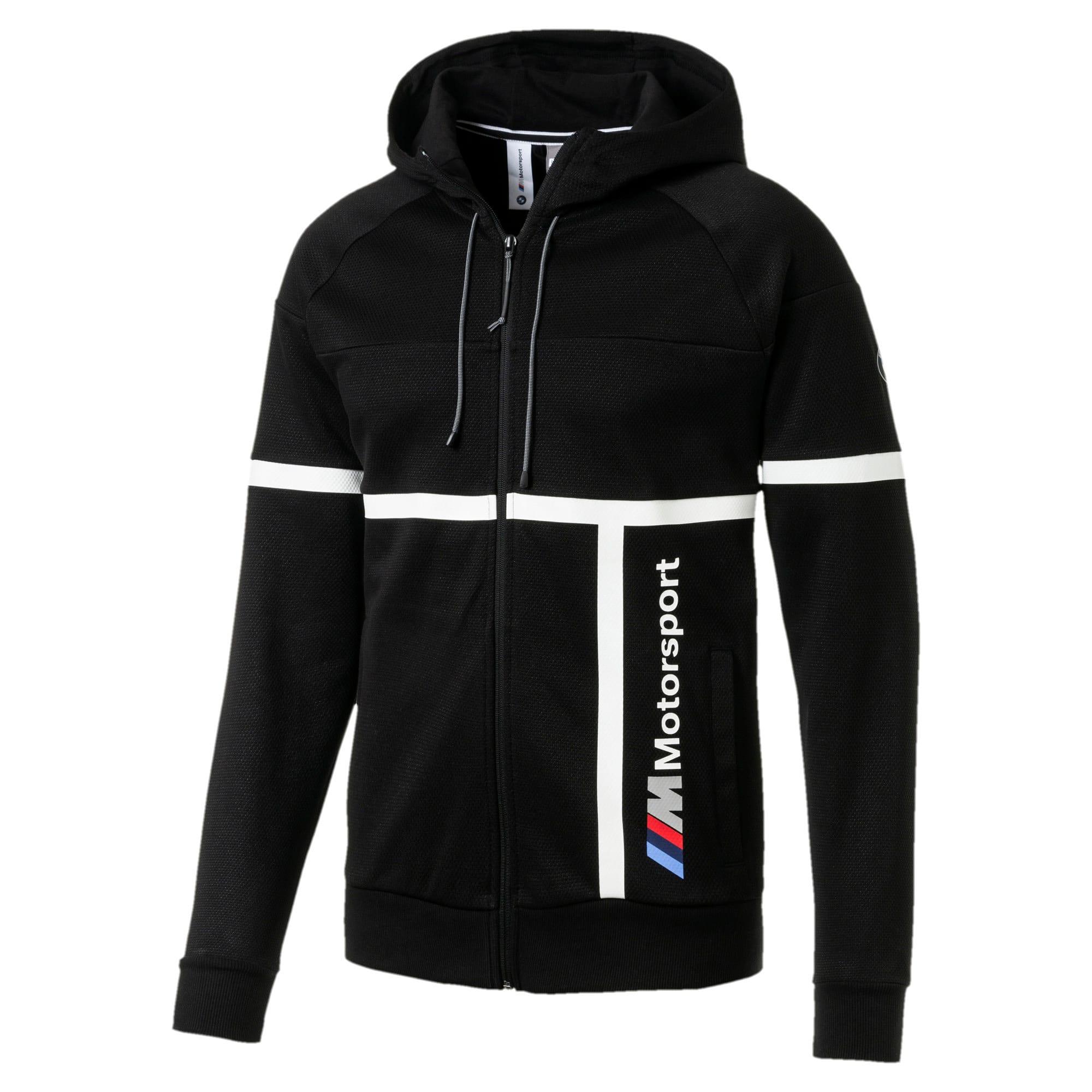 Thumbnail 4 of BMW M Motorsport Men's Hooded Sweat Jacket, Puma Black, medium