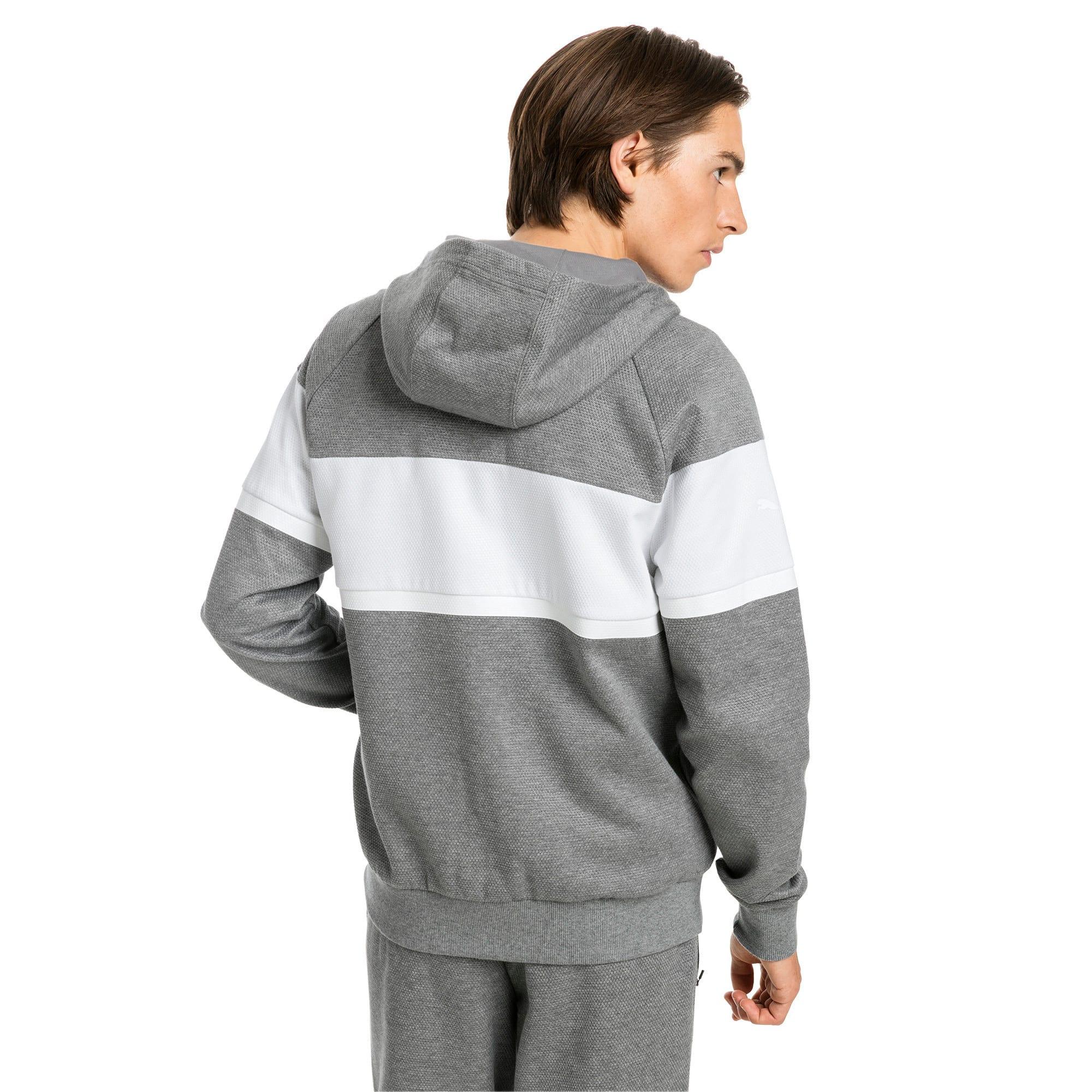 Thumbnail 3 of BMW M Motorsport Men's Hooded Sweat Jacket, Medium Gray Heather, medium