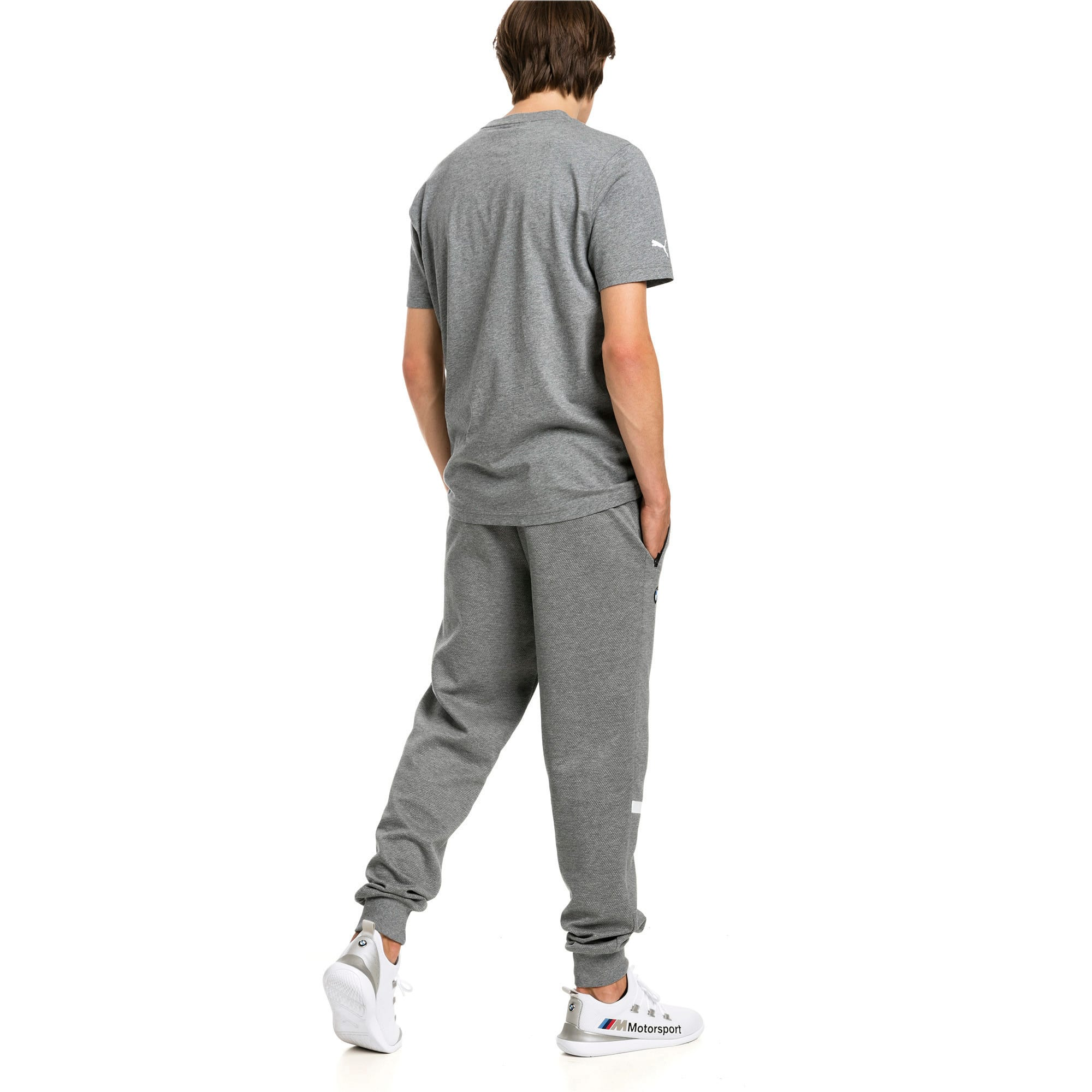 Thumbnail 2 of BMW Motorsport Knitted Men's Sweatpants, Medium Gray Heather, medium-IND