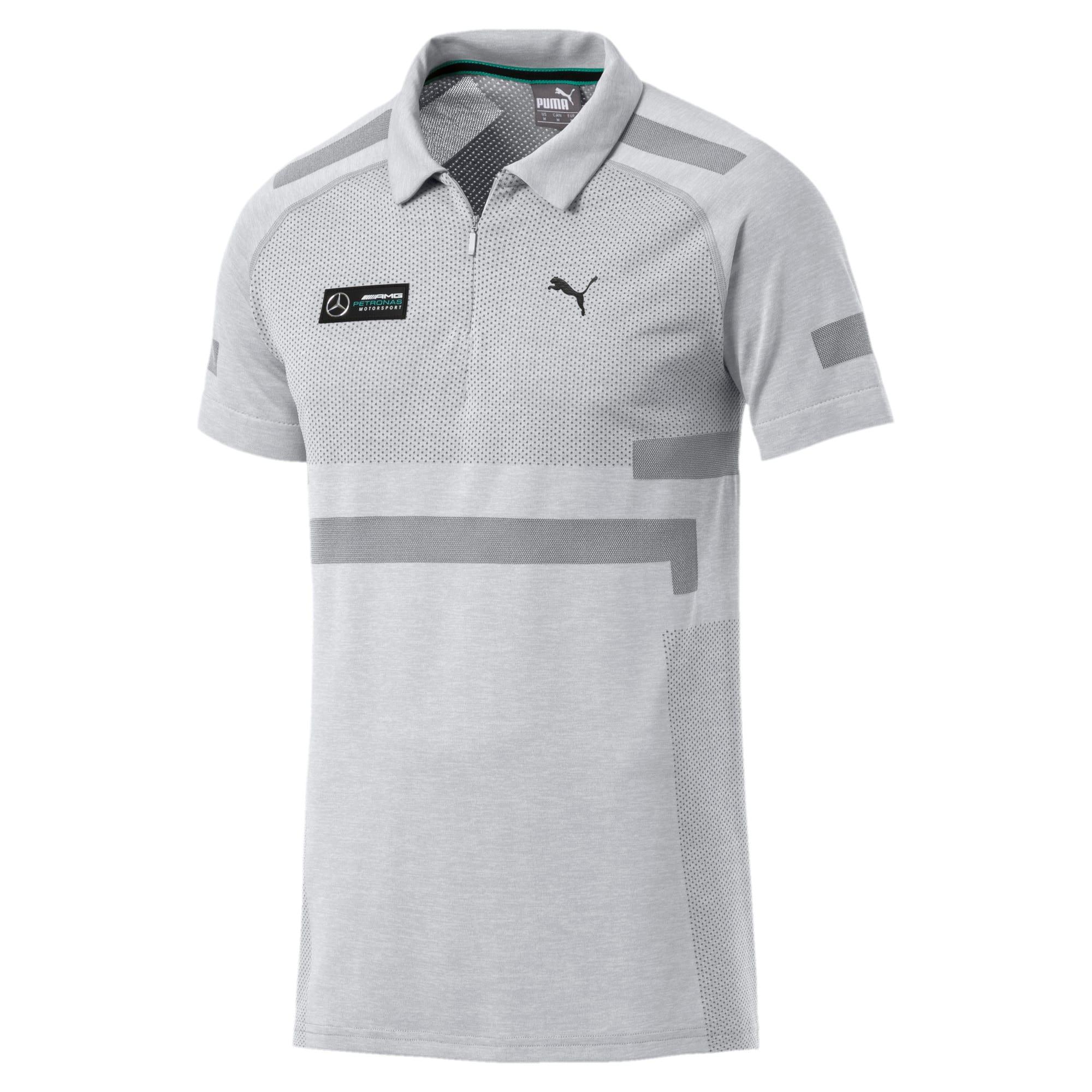 Thumbnail 4 of Mercedes AMG Petronas evoKNIT Polo, Mercedes Team Silver, medium