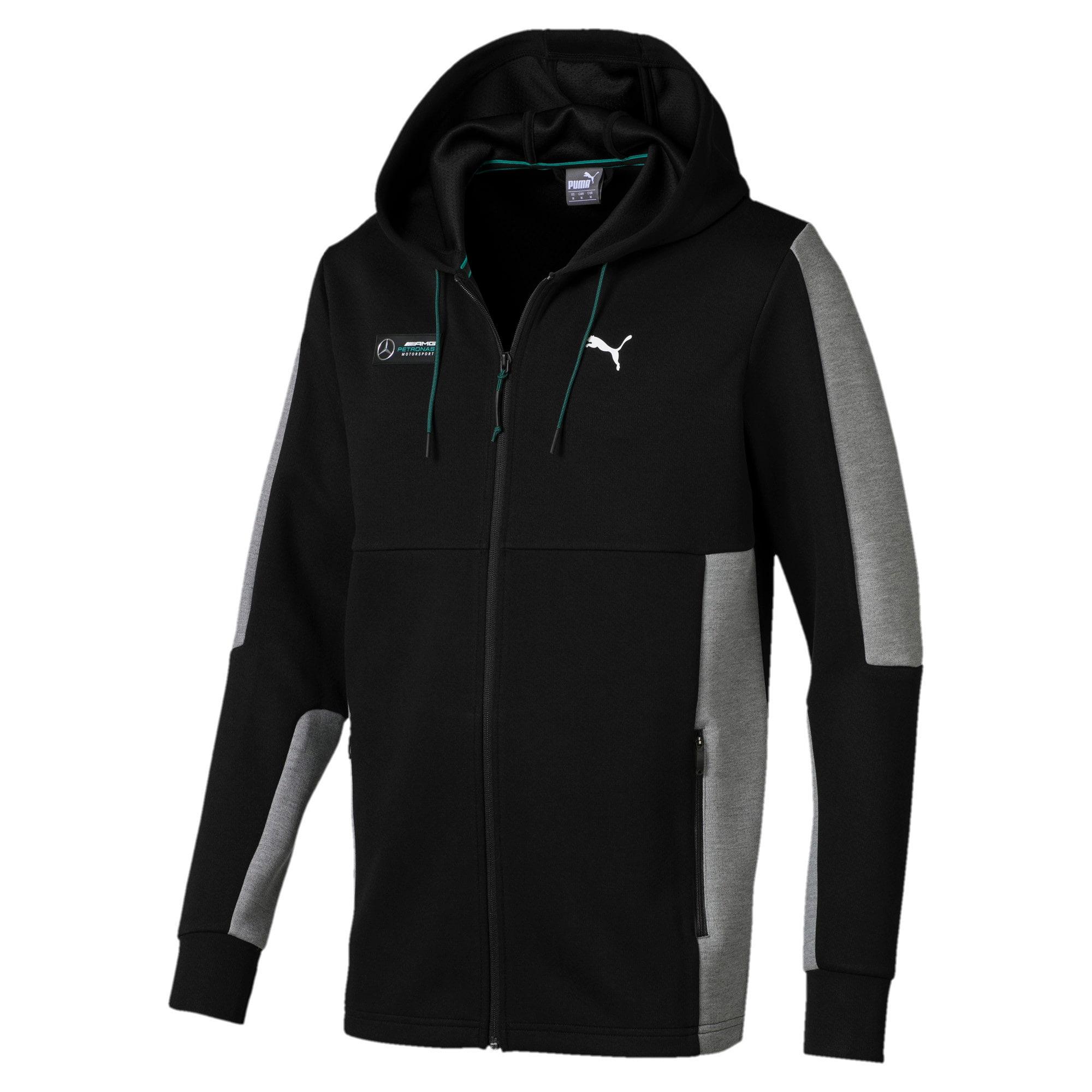 Thumbnail 3 of Mercedes AMG Petronas Motorsport Men's Sweat Jacket, Puma Black, medium-IND