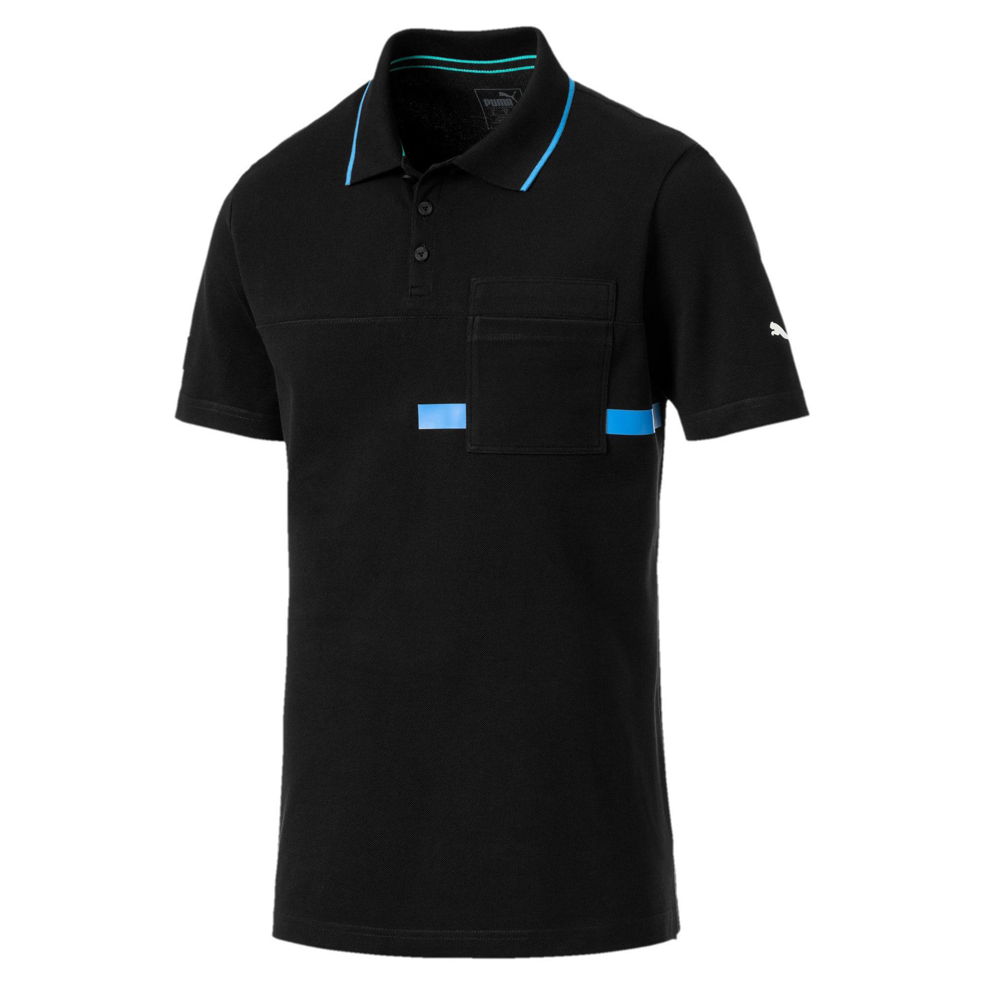 Thumbnail 3 of MERCEDES AMG PETRONAS Men's Polo Shirt, Puma Black, medium-IND