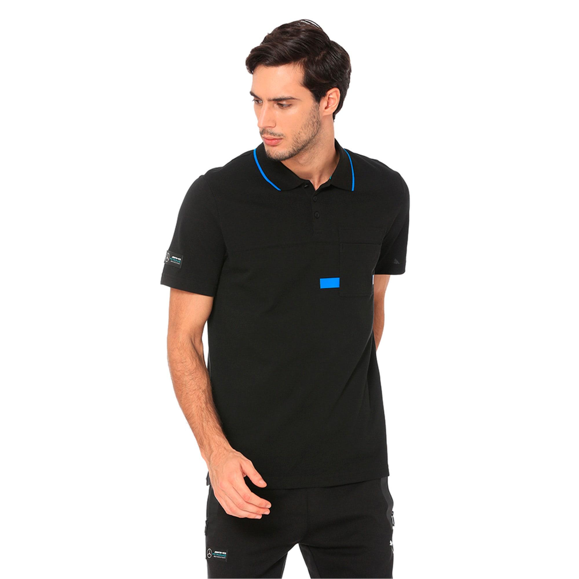 Thumbnail 1 of MERCEDES AMG PETRONAS Men's Polo Shirt, Puma Black, medium-IND
