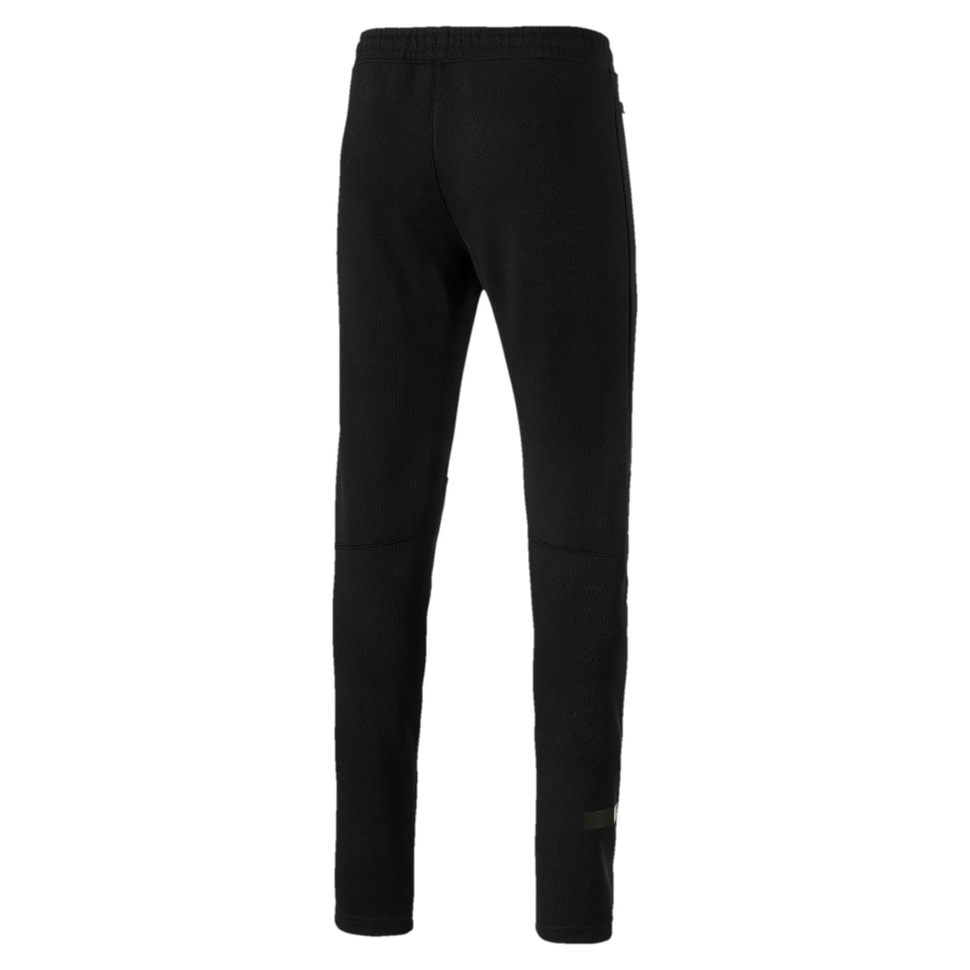 Thumbnail 5 of Mercedes AMG Petronas Knitted Men's Sweatpants, Puma Black, medium-IND