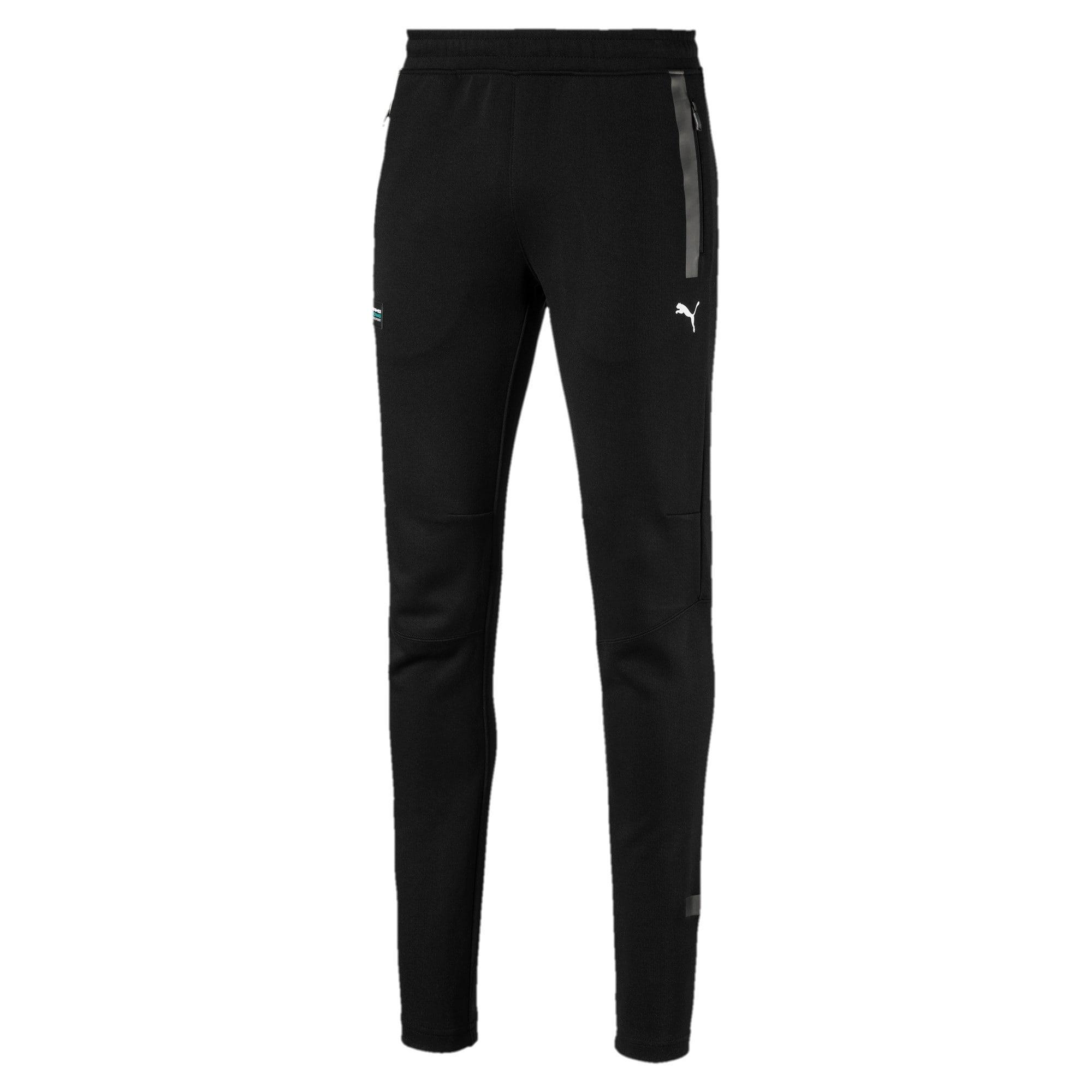 Thumbnail 4 of Mercedes AMG Petronas Knitted Men's Sweatpants, Puma Black, medium-IND