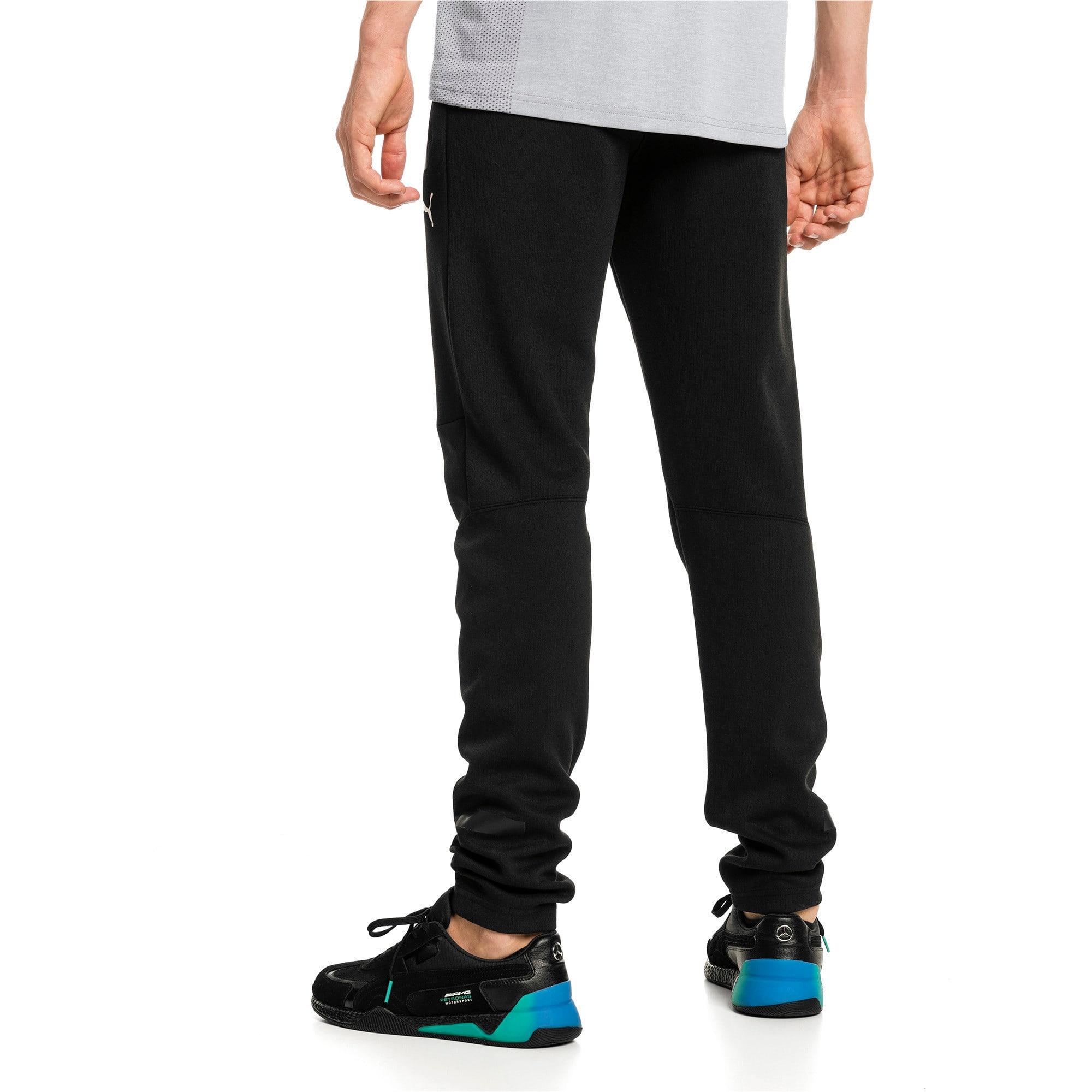 Thumbnail 2 of Mercedes AMG Petronas Knitted Men's Sweatpants, Puma Black, medium-IND