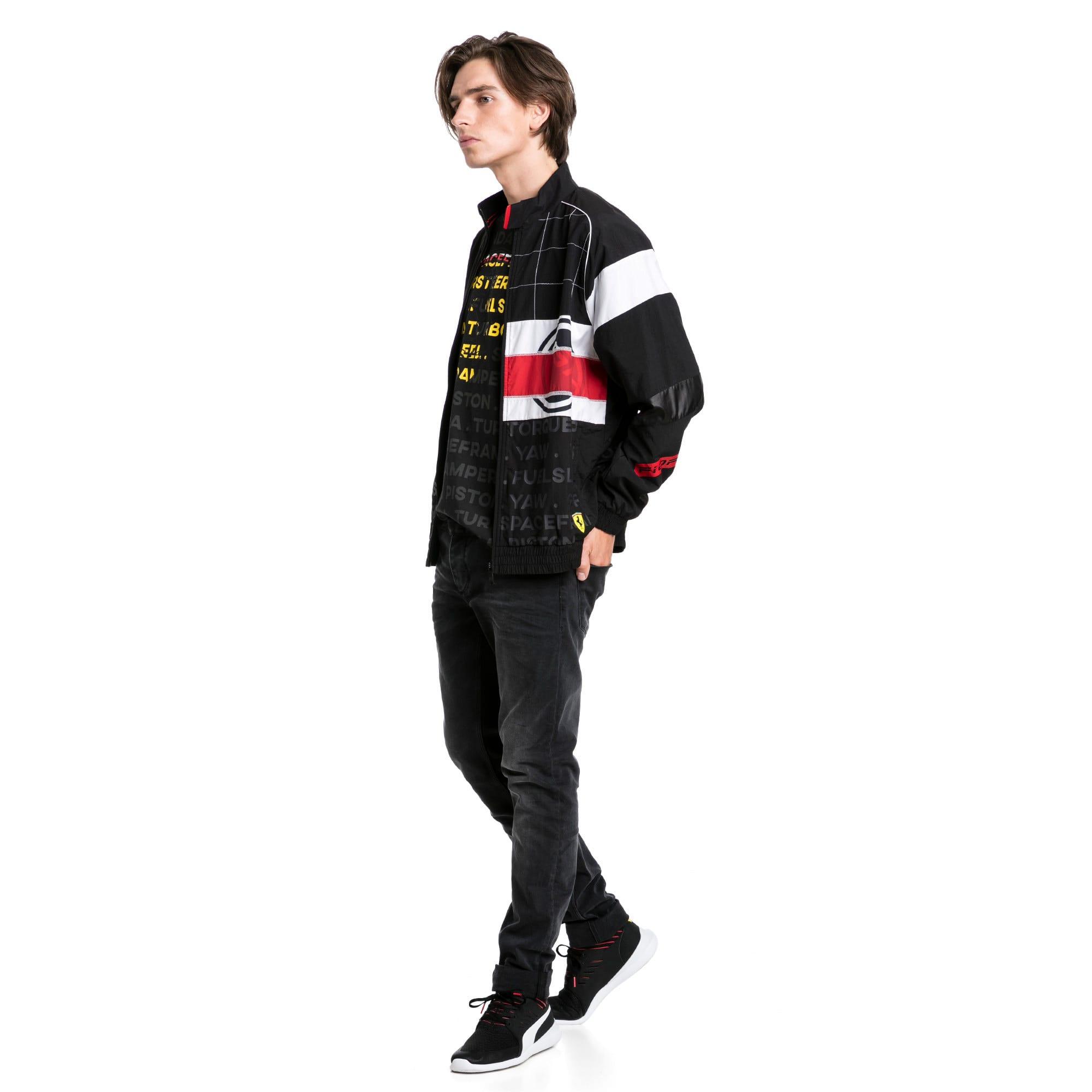 Thumbnail 3 of Scuderia Ferrari Street Men's Woven Jacket, Puma Black, medium
