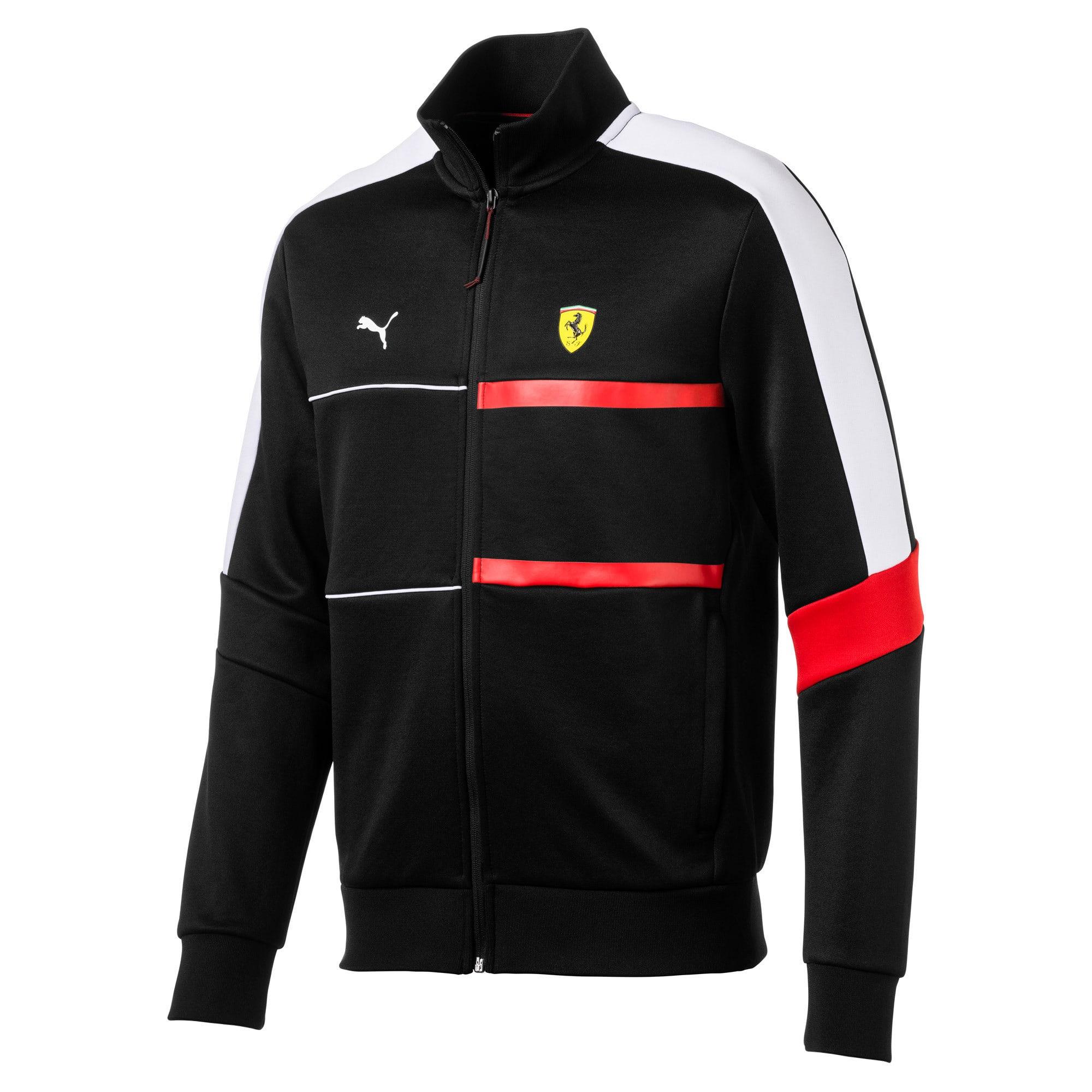 Thumbnail 2 of Scuderia Ferrari Men's T7 Track Jacket, Puma Black, medium
