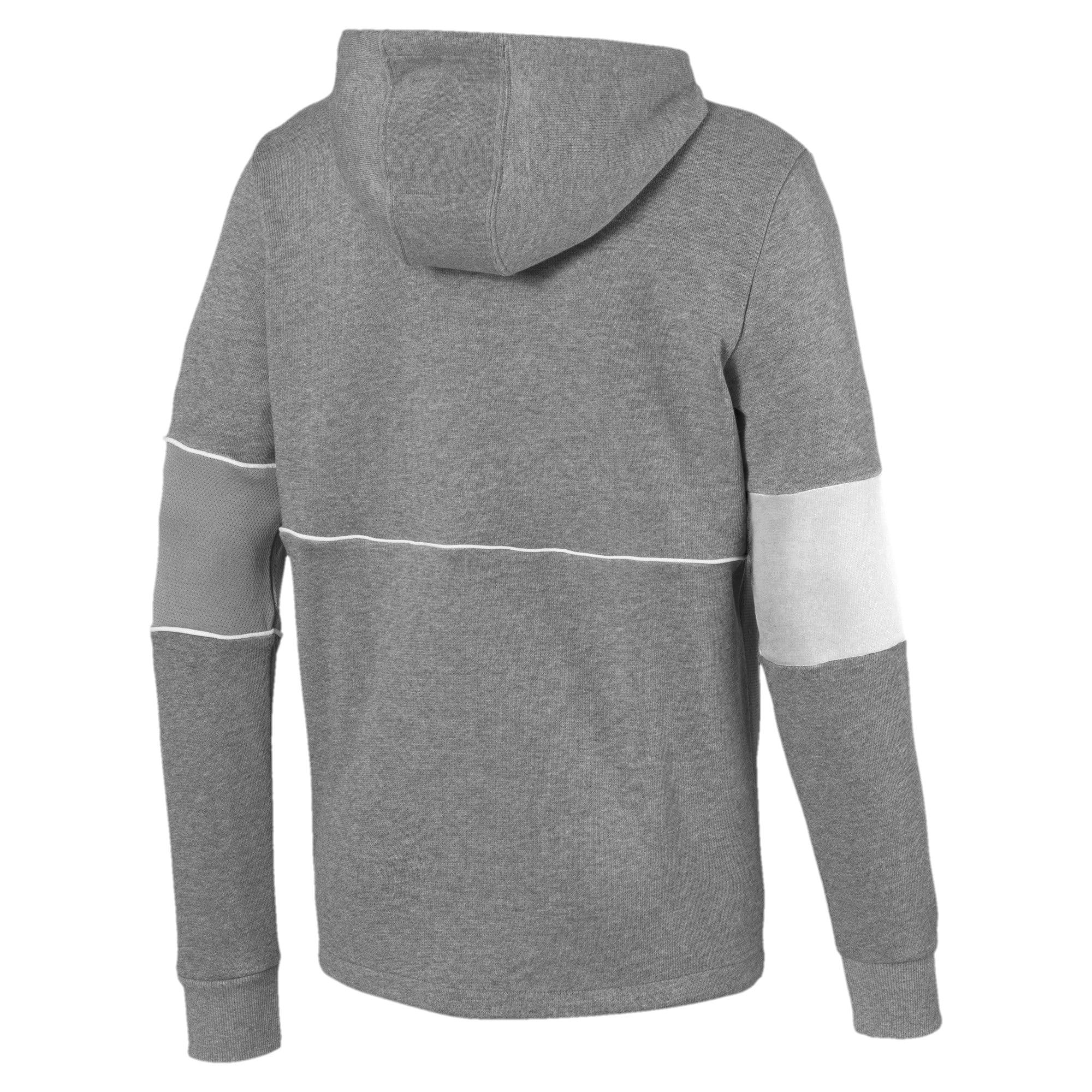 Thumbnail 5 of Ferrari Hooded Zip-Up Men's Jacket, Medium Gray Heather, medium-IND