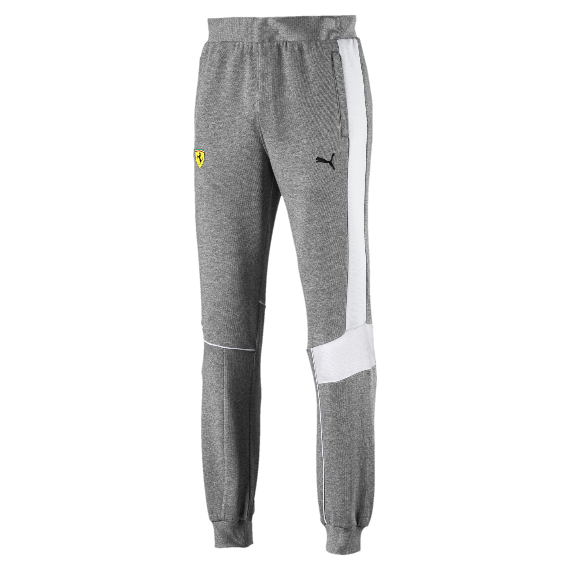 Thumbnail 4 of Ferrari Knitted Men's Sweatpants, Medium Gray Heather, medium-IND