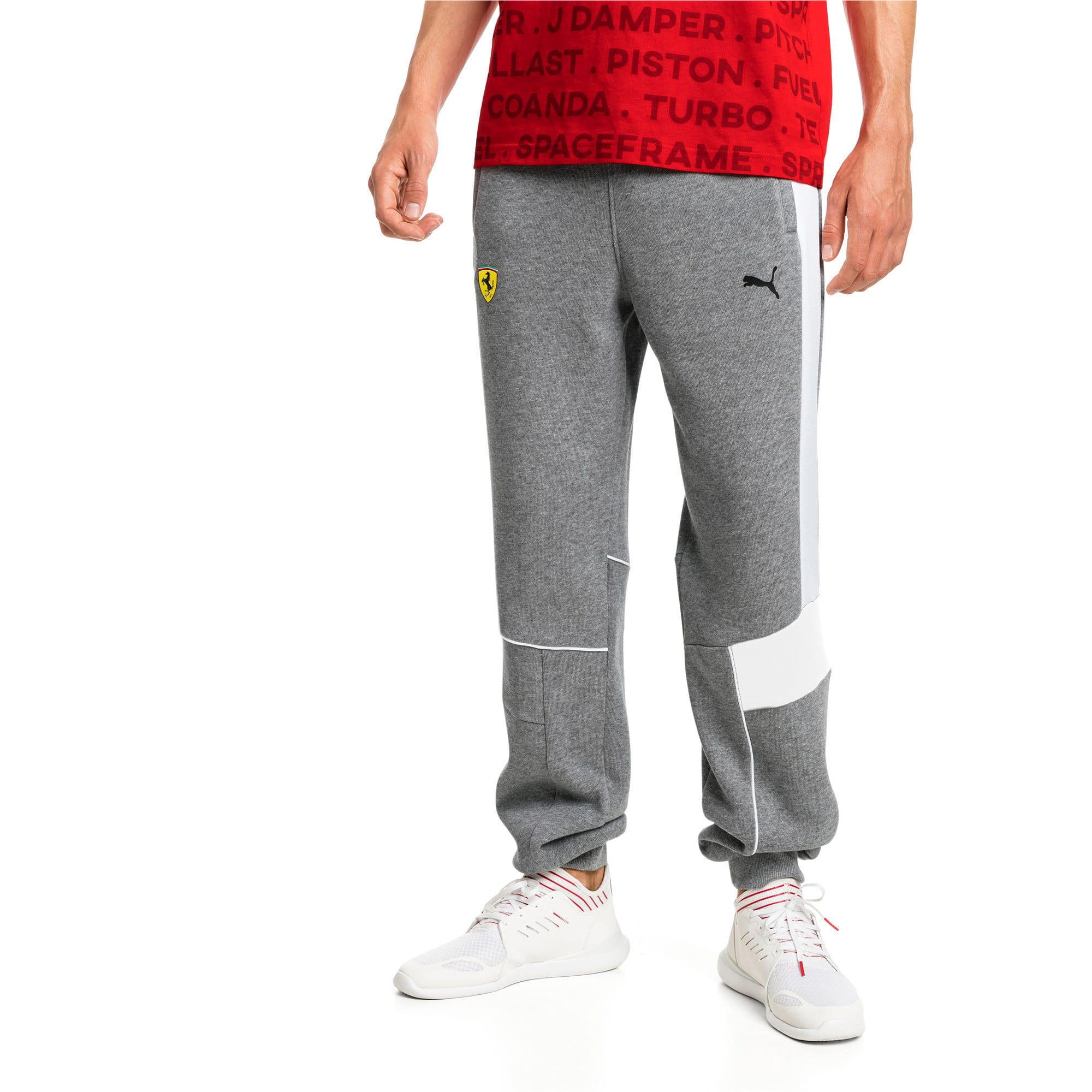 Thumbnail 1 of Ferrari Knitted Men's Sweatpants, Medium Gray Heather, medium-IND