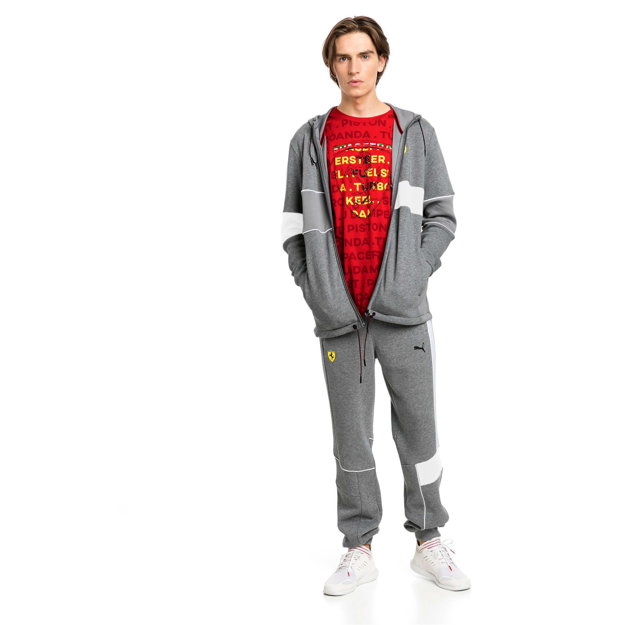 Thumbnail 3 of Ferrari Knitted Men's Sweatpants, Medium Gray Heather, medium-IND