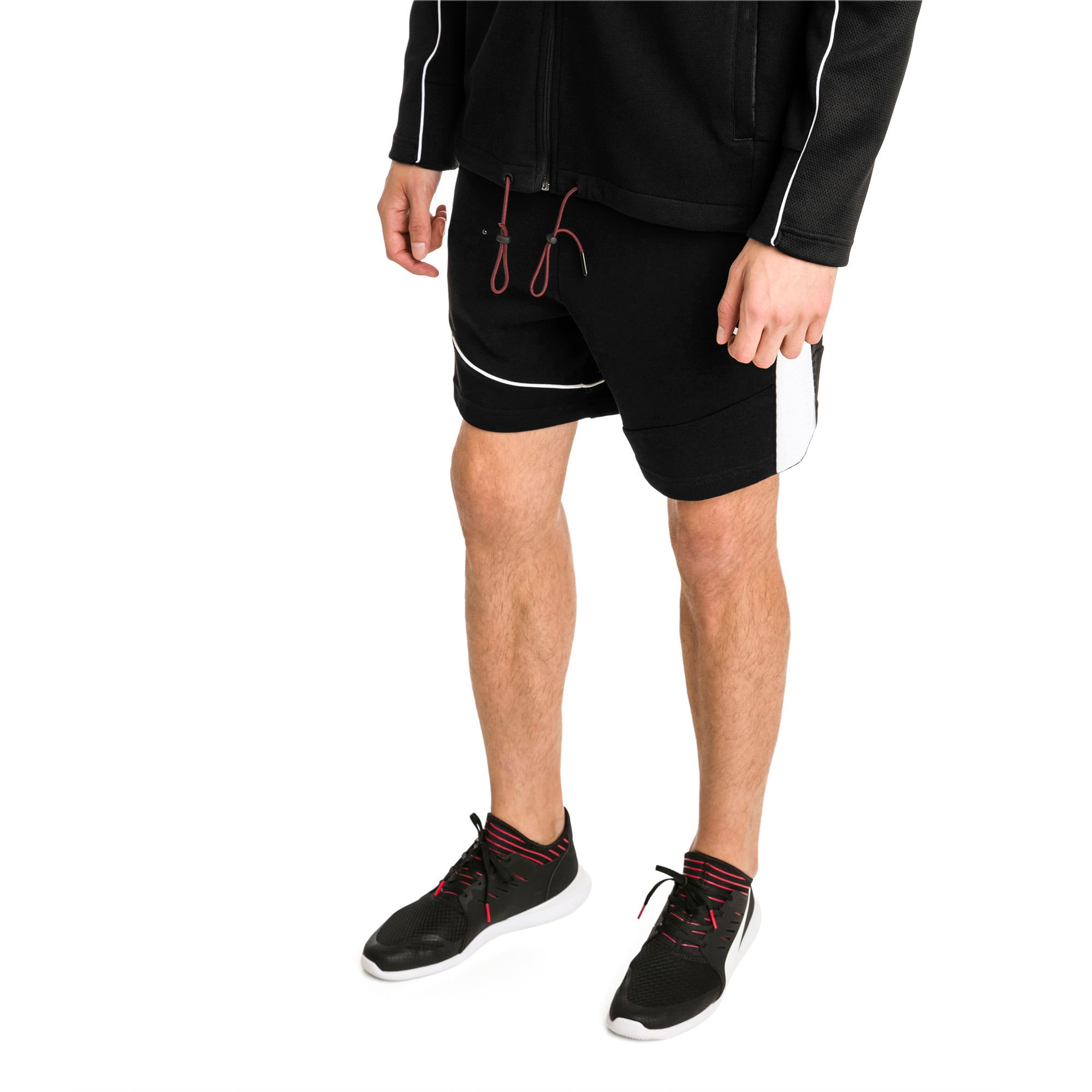 Thumbnail 1 of Ferrari Men's Sweat Shorts, Puma Black, medium-IND