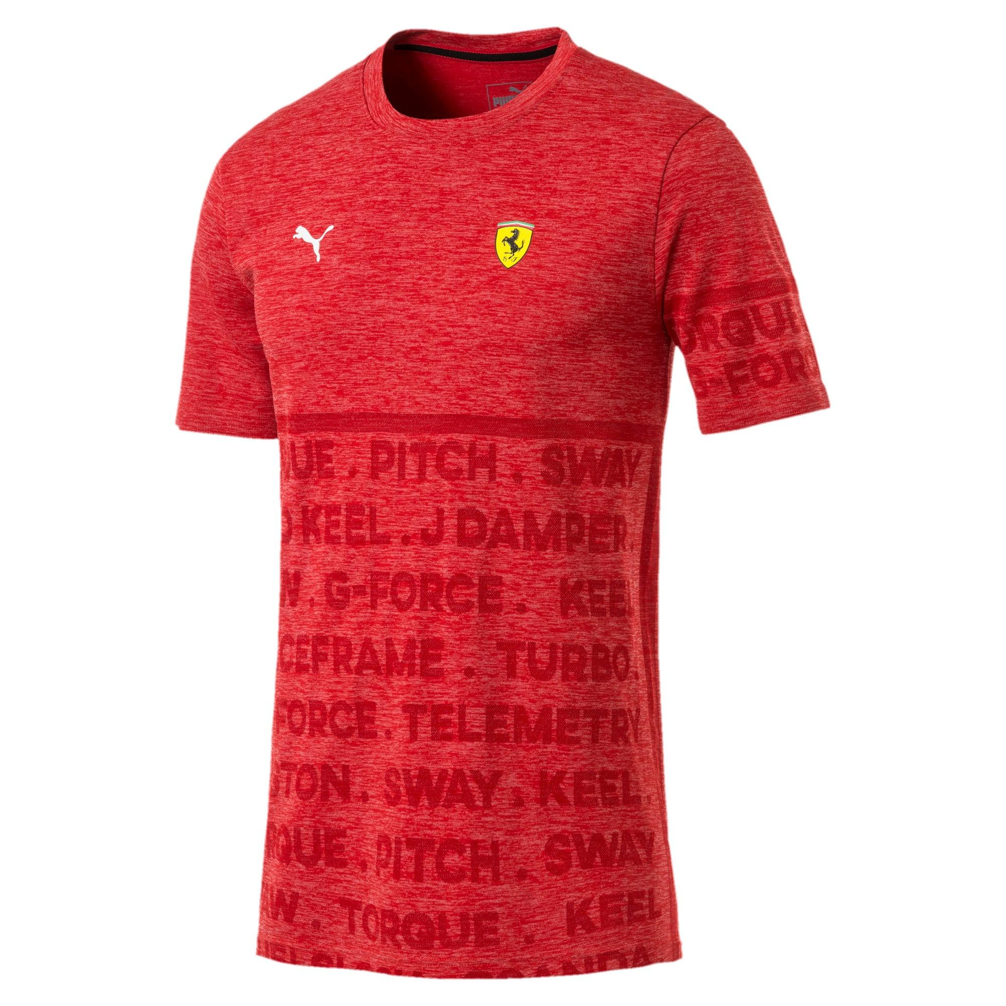 Thumbnail 4 of Ferrari evoKNIT Short Sleeve Men's Tee, Rosso Corsa, medium-IND