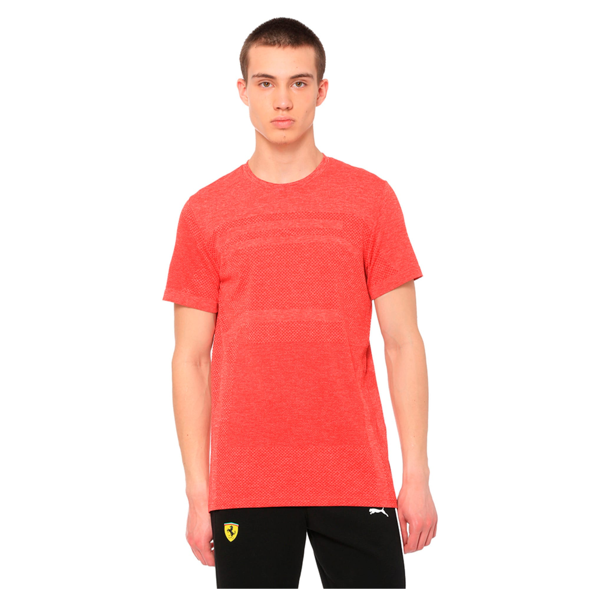 Thumbnail 1 of Ferrari evoKNIT Short Sleeve Men's Tee, Rosso Corsa, medium-IND