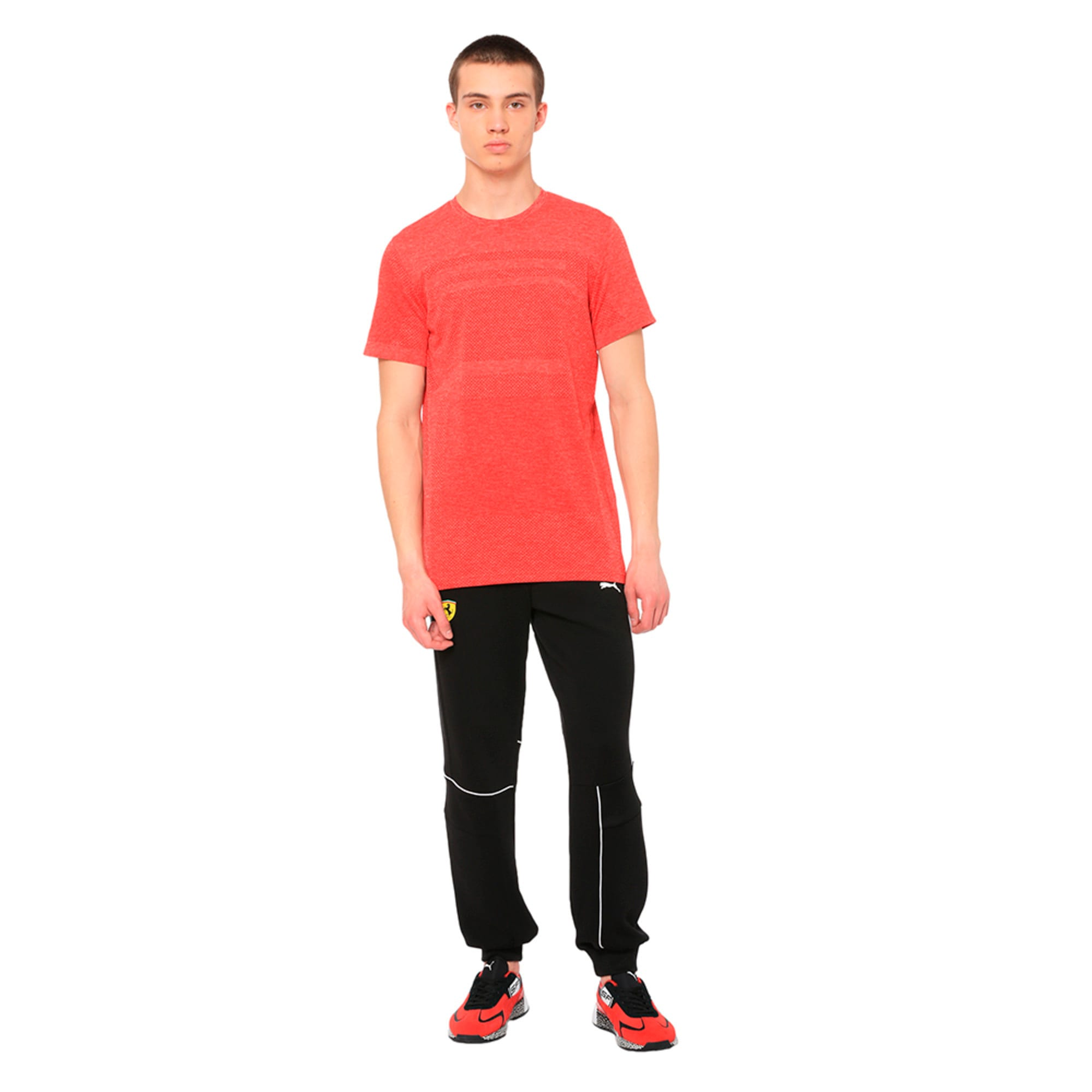 Thumbnail 2 of Ferrari evoKNIT Short Sleeve Men's Tee, Rosso Corsa, medium-IND