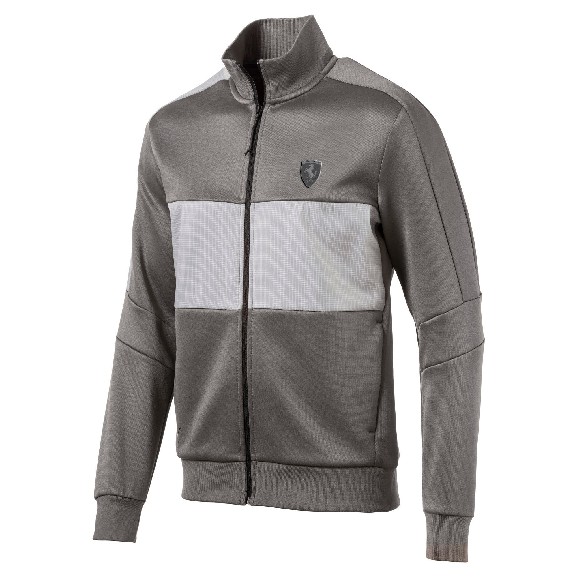 Thumbnail 1 of Ferrari T7 Men's Track Jacket, Charcoal Gray, medium-IND
