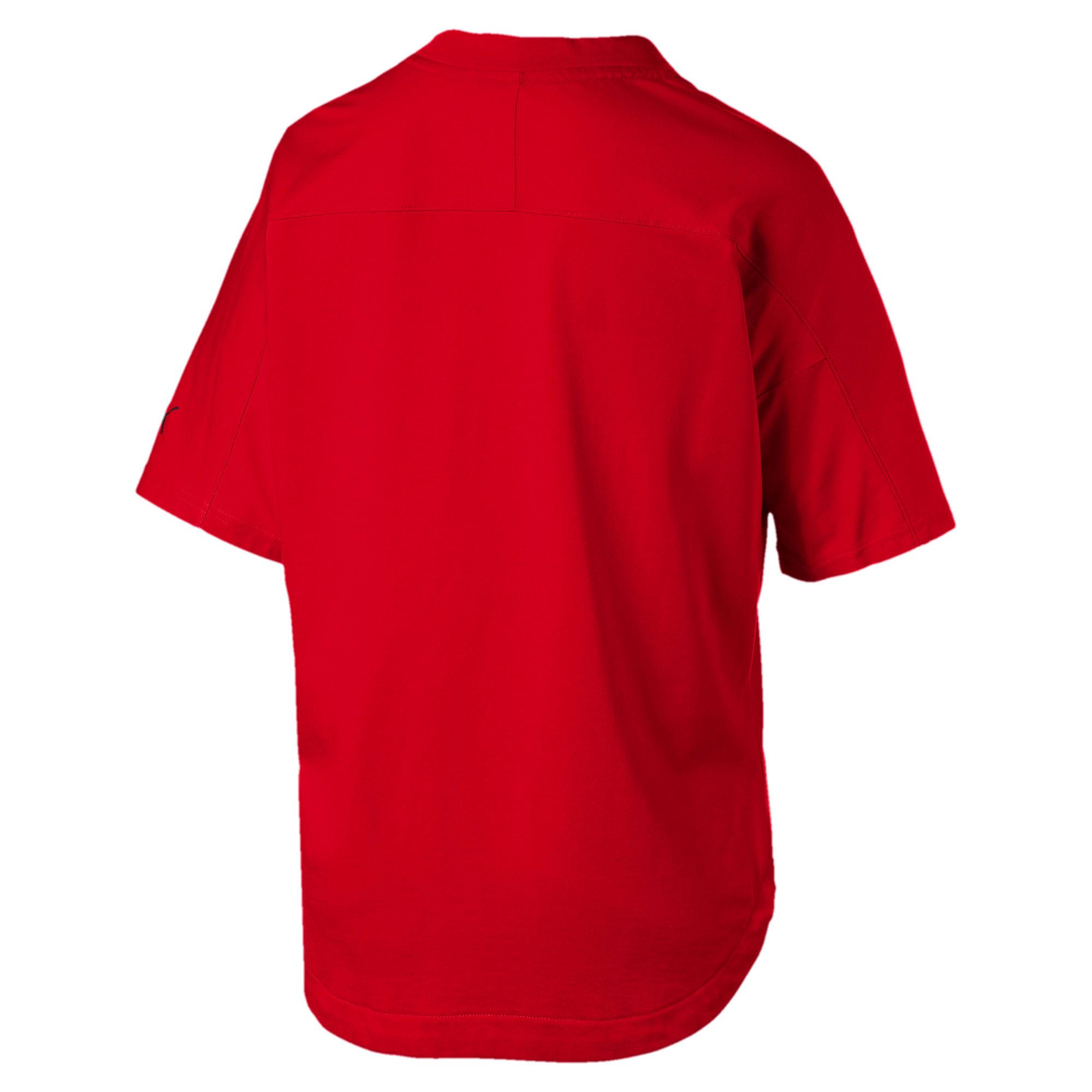 Thumbnail 5 of T-shirt con stemma grande Ferrari donna, Rosso Corsa, medium