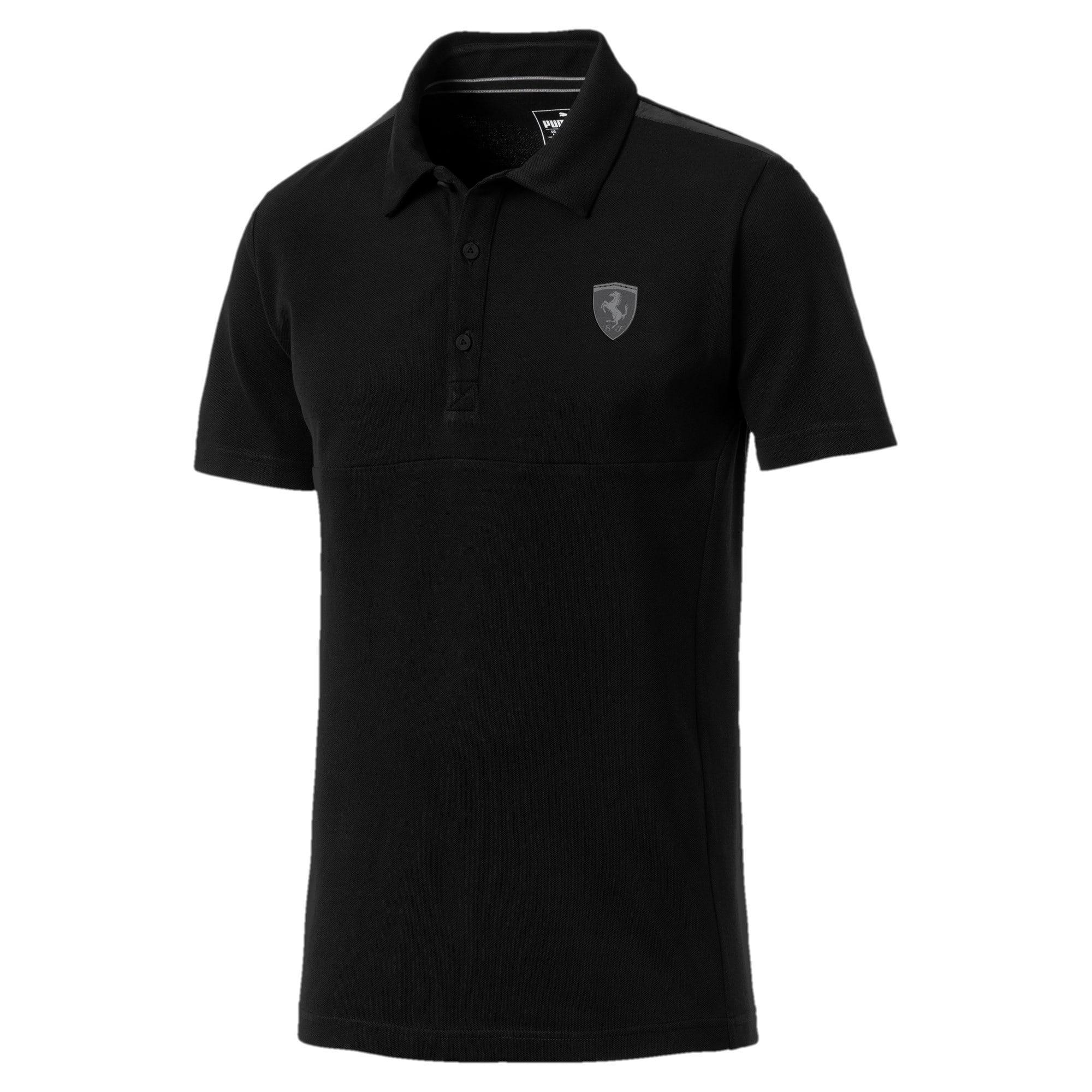 Thumbnail 1 of Ferrari Men's Polo Shirt, Puma Black, medium-IND