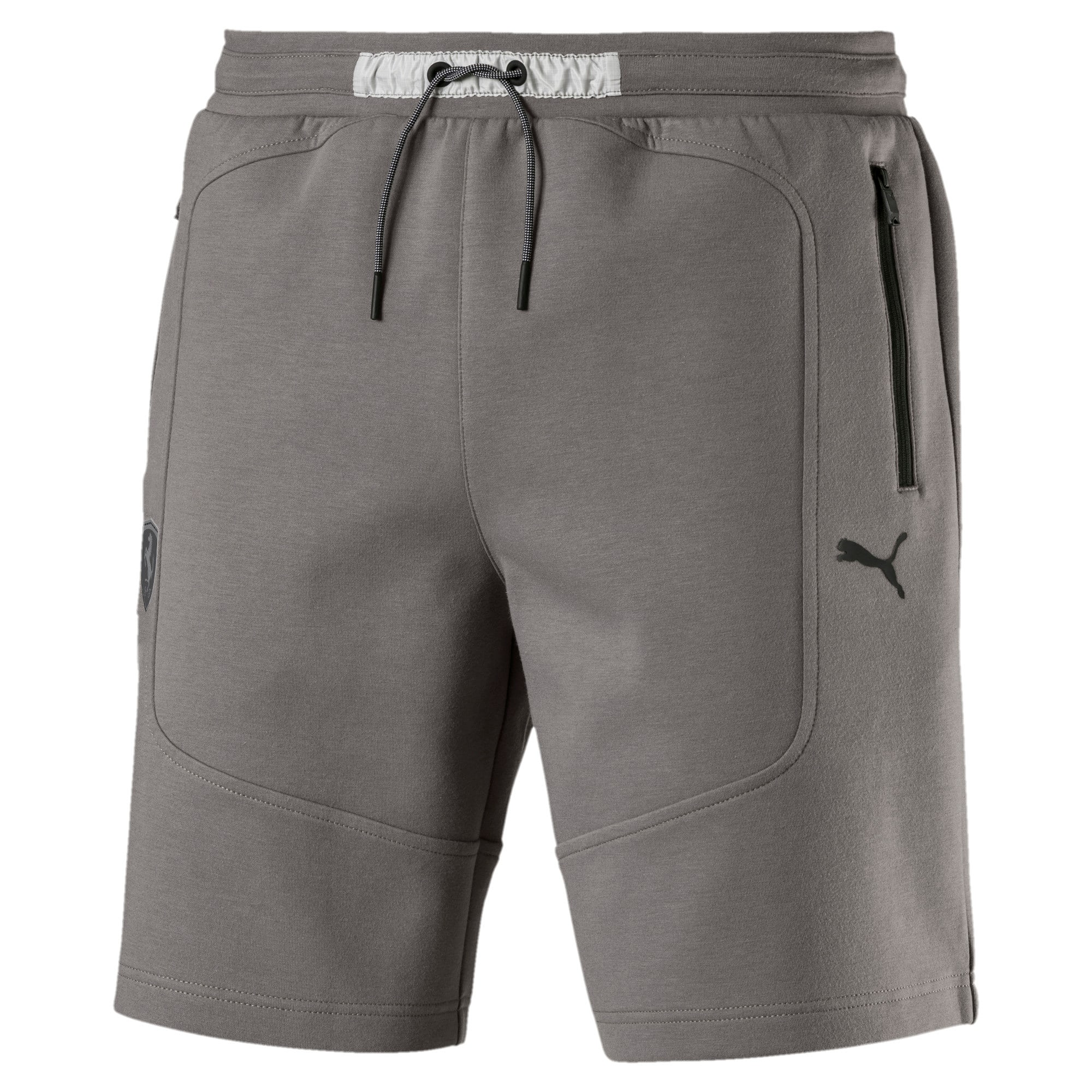 Ferrari Knitted Men's Shorts, Charcoal Gray, large