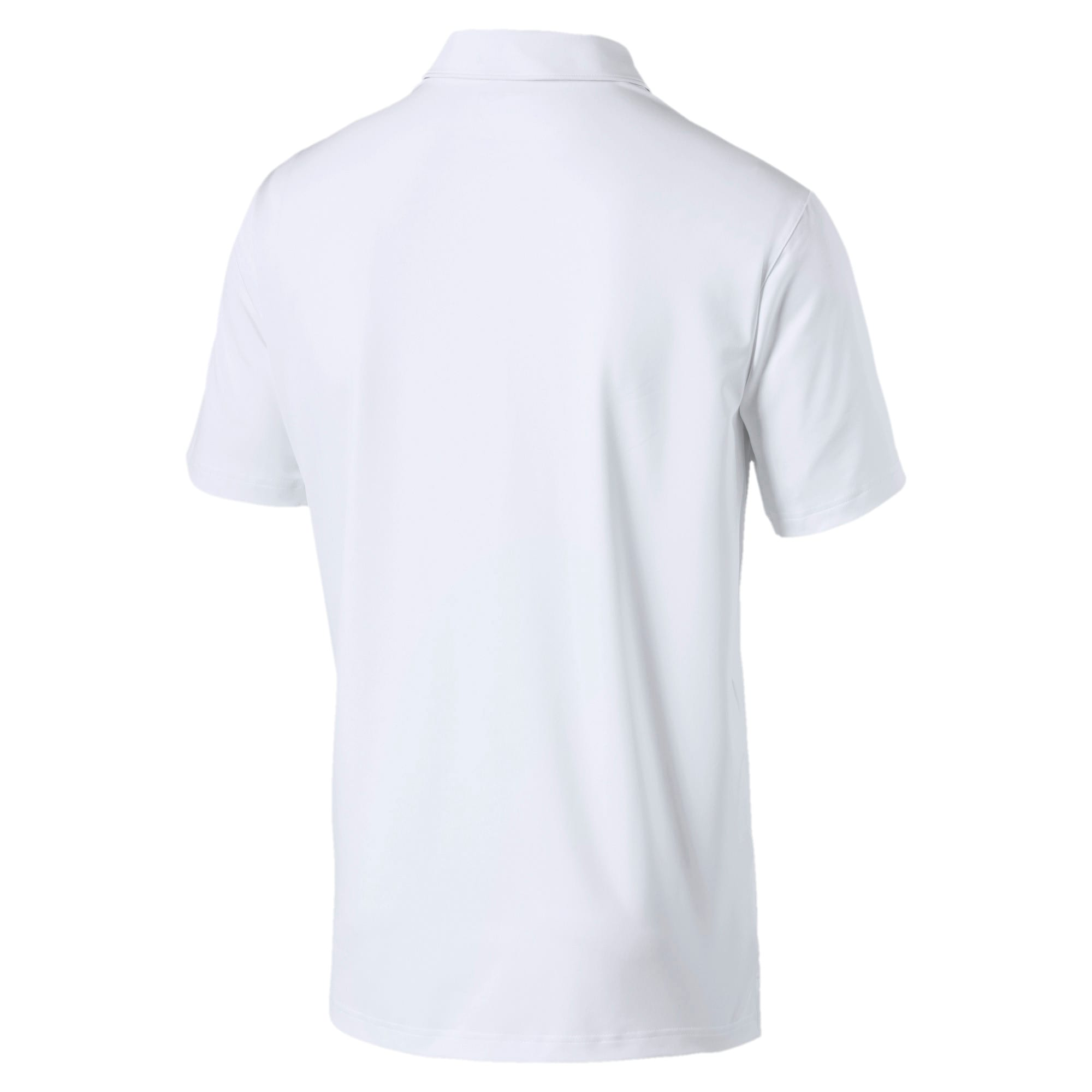 Thumbnail 5 of Road Map Herren Golf Polo, Bright White-Puma Black, medium