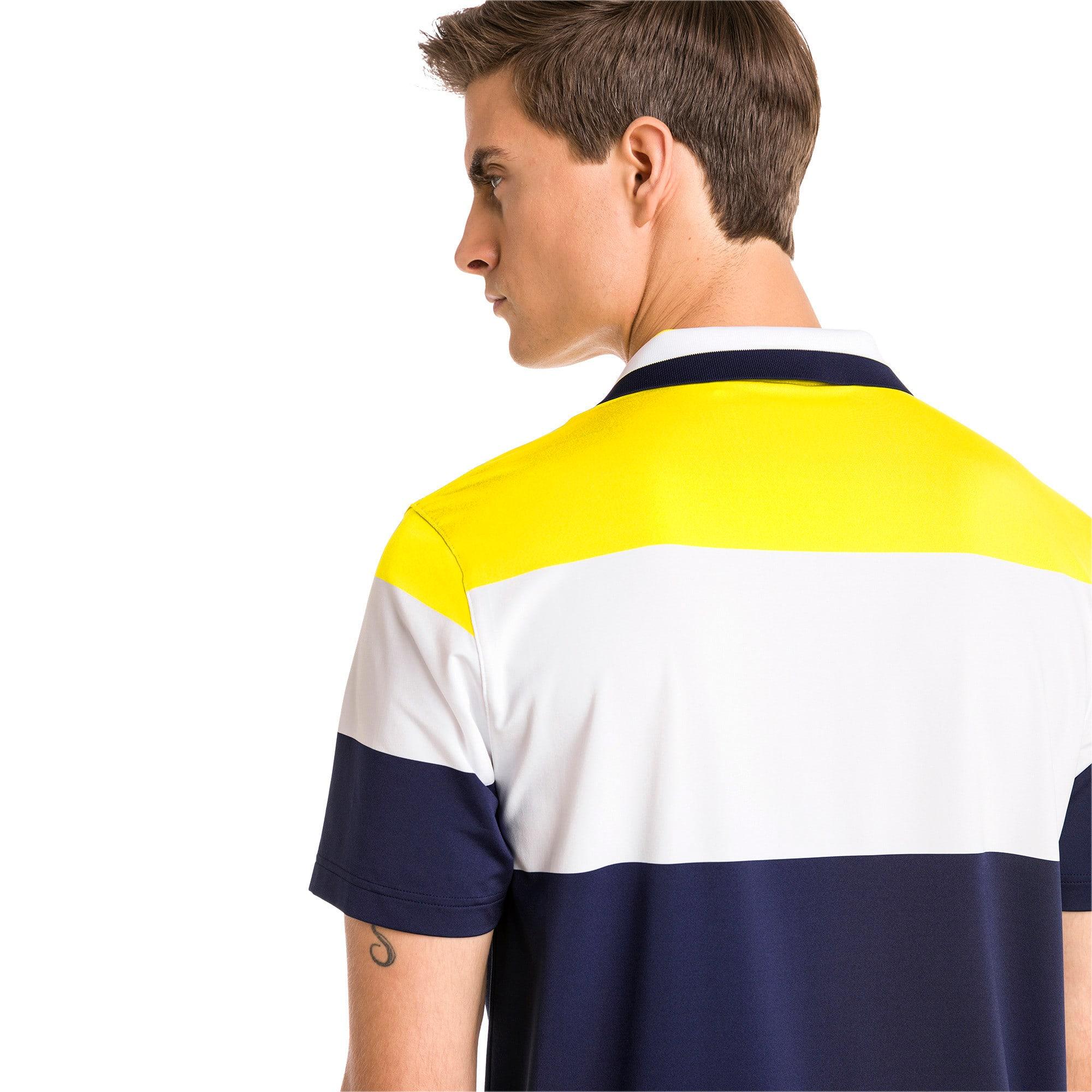 Thumbnail 2 of Nineties Men's Golf Polo, Blazing Yellow, medium