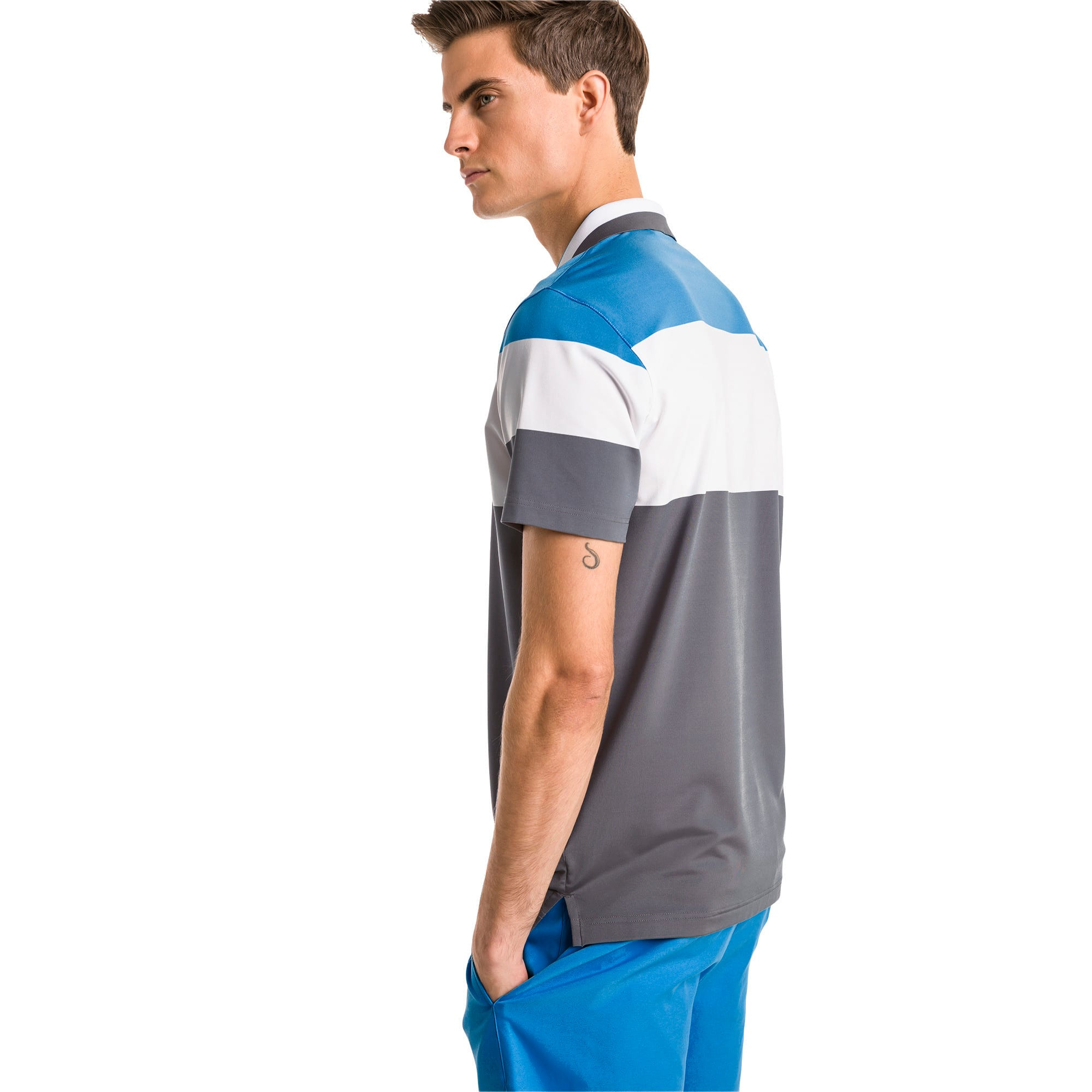 Thumbnail 2 of Nineties Herren Golf Polo, Bleu Azur, medium