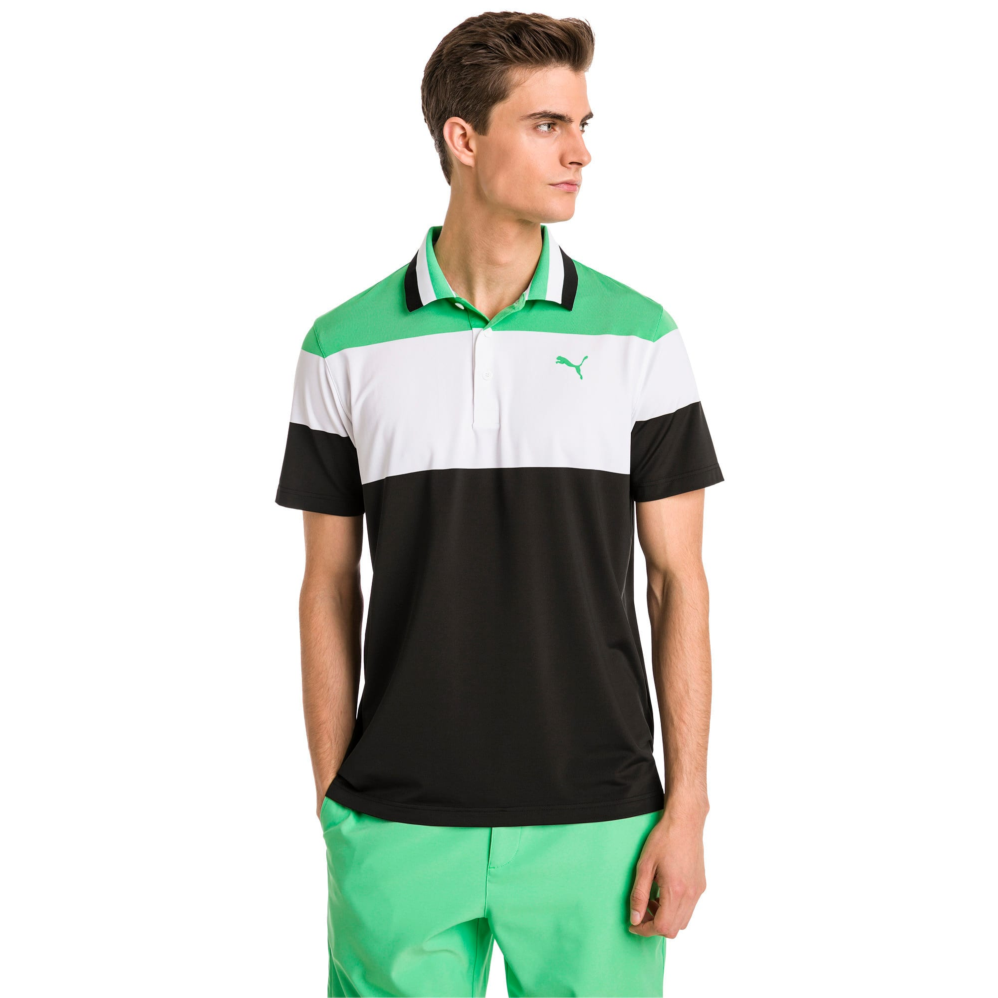 Thumbnail 1 of Polo de golf Nineties pour homme, Irish Green, medium