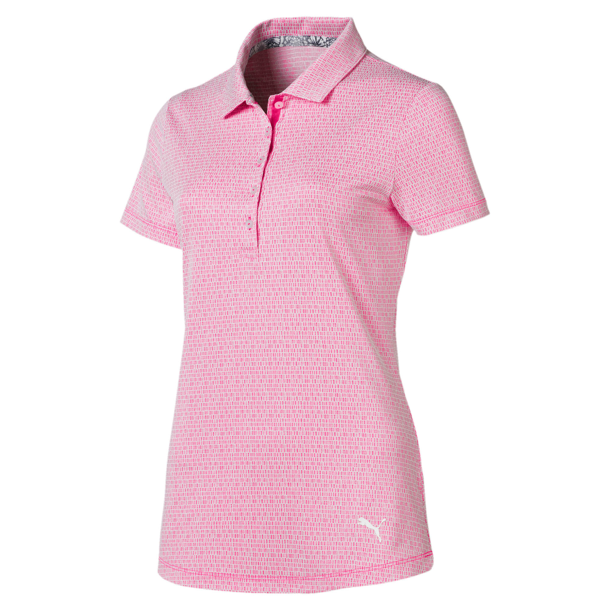 Thumbnail 4 of Swift Women's Golf Polo, Fuchsia Purple-Bright White, medium
