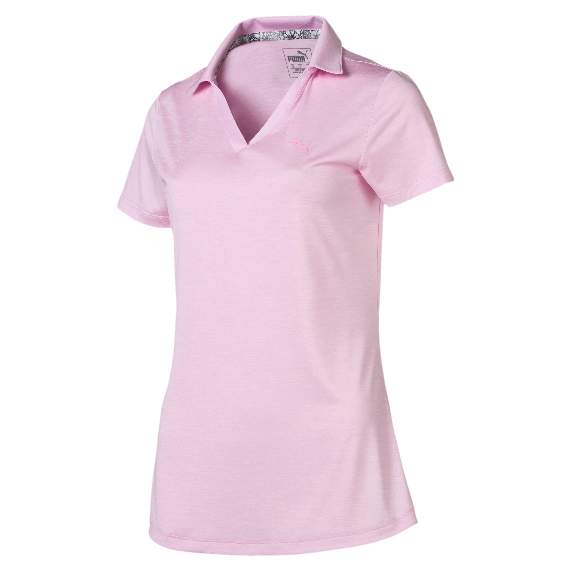 Thumbnail 4 of Super Soft Women's Golf Polo, Pale Pink Heather, medium