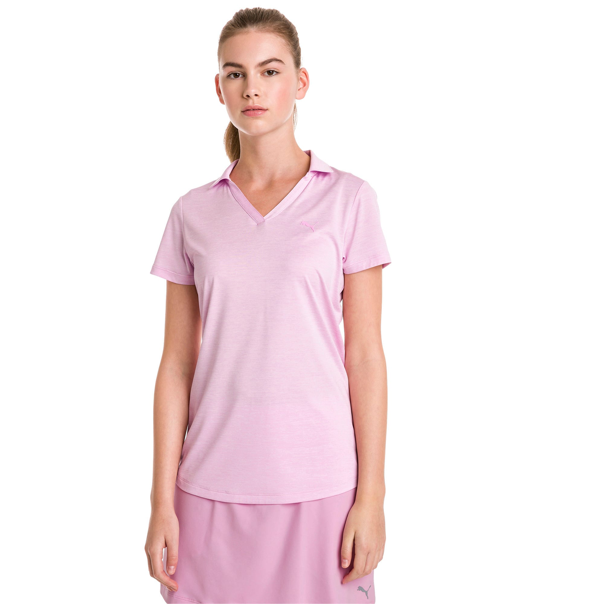Thumbnail 1 of Super Soft Women's Golf Polo, Pale Pink Heather, medium