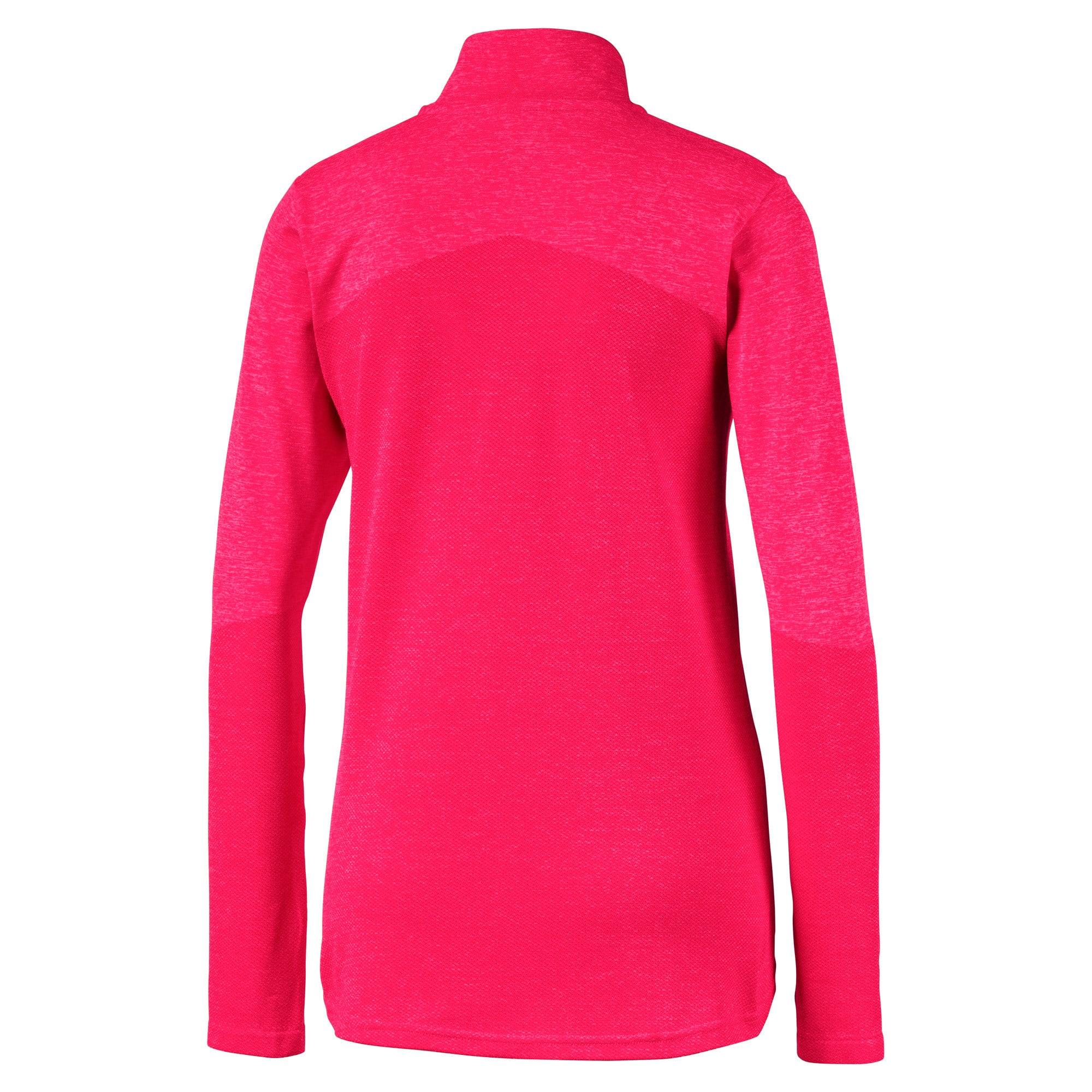 Thumbnail 6 of evoKNIT 1/4 Zip Damen Golf Pullover, Azalea Heather, medium