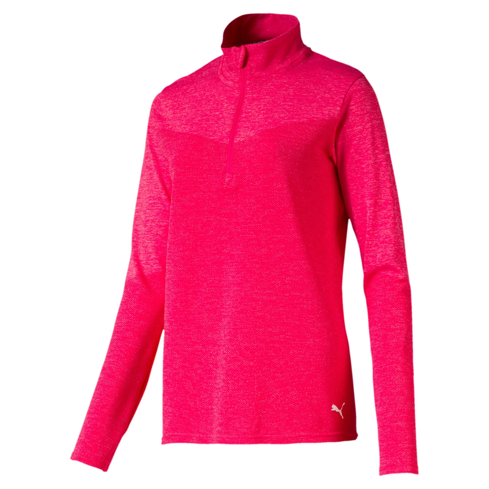 Thumbnail 5 of evoKNIT 1/4 Zip Women's Golf Pullover, Azalea Heather, medium