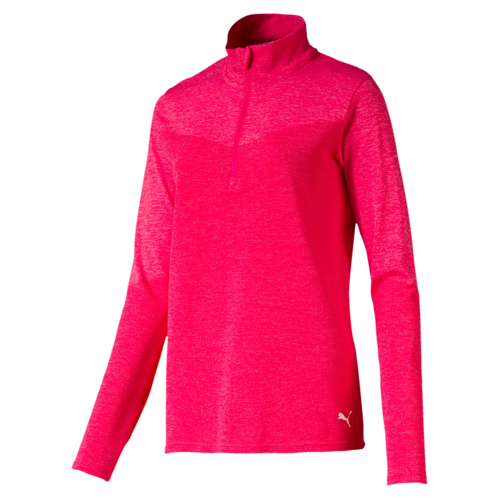 Thumbnail 5 of evoKNIT 1/4 Zip Damen Golf Pullover, Azalea Heather, medium