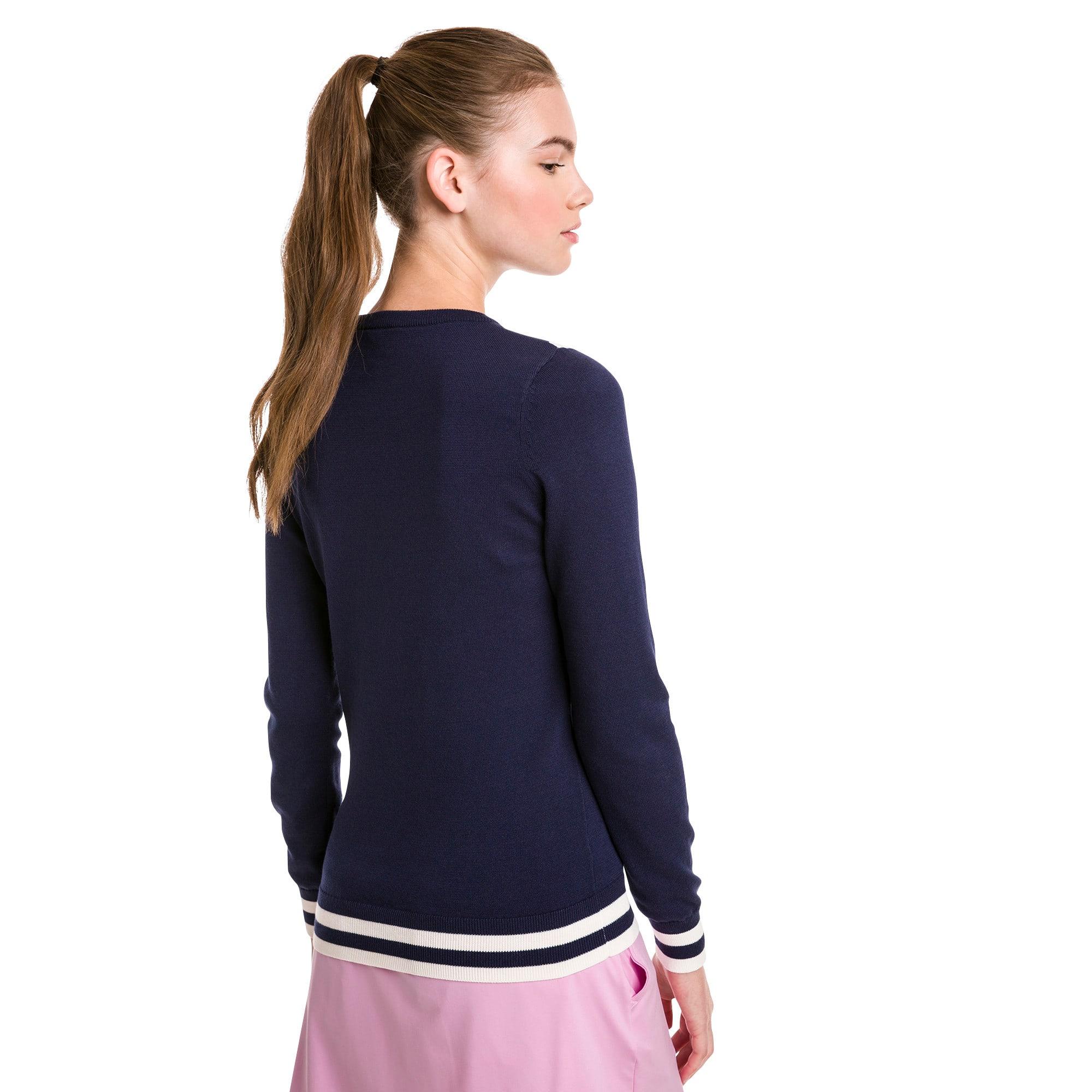 Thumbnail 2 of Chevron Women's Golf Sweater, Peacoat, medium