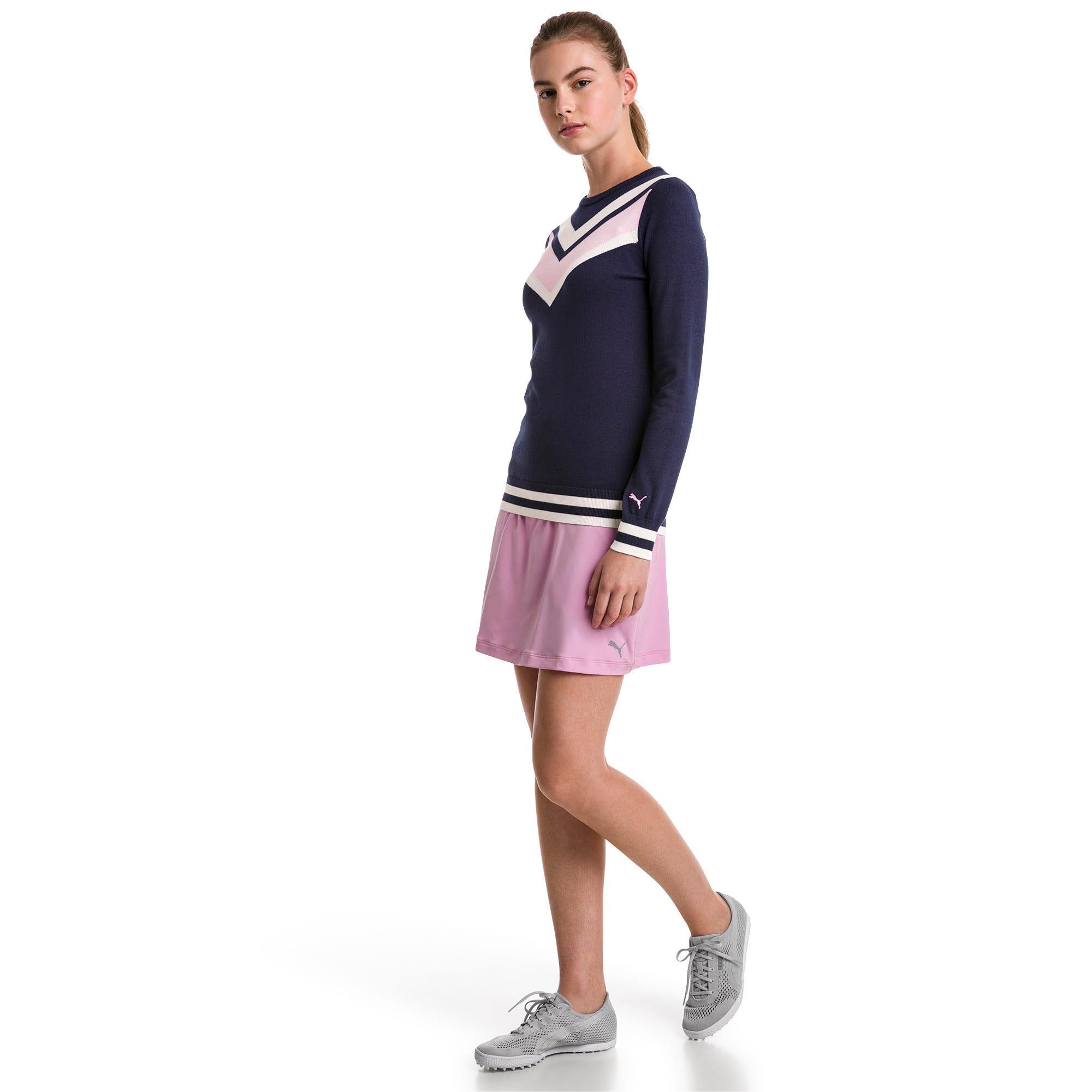 Thumbnail 3 of Chevron Women's Golf Sweater, Peacoat, medium