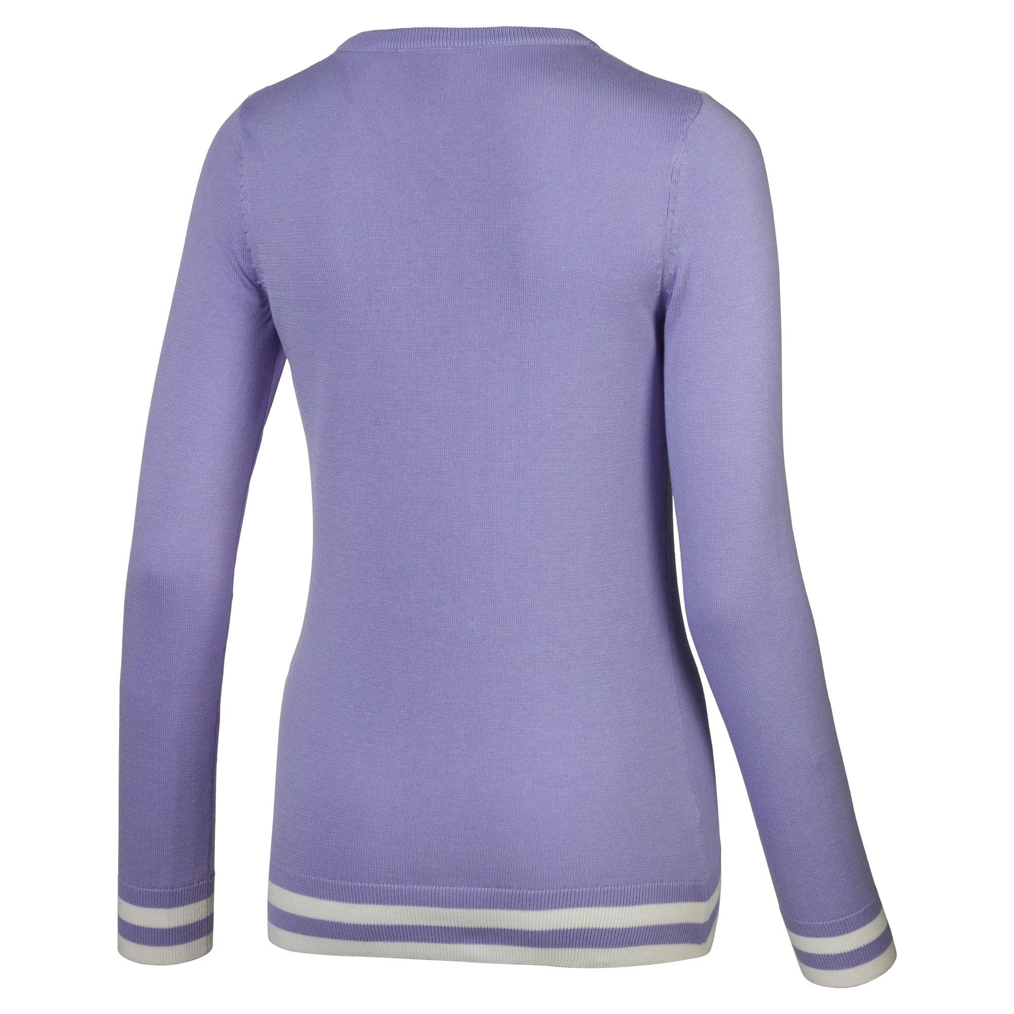 Thumbnail 2 of Chrevron golfsweater voor dames, Sweet Lavender, medium