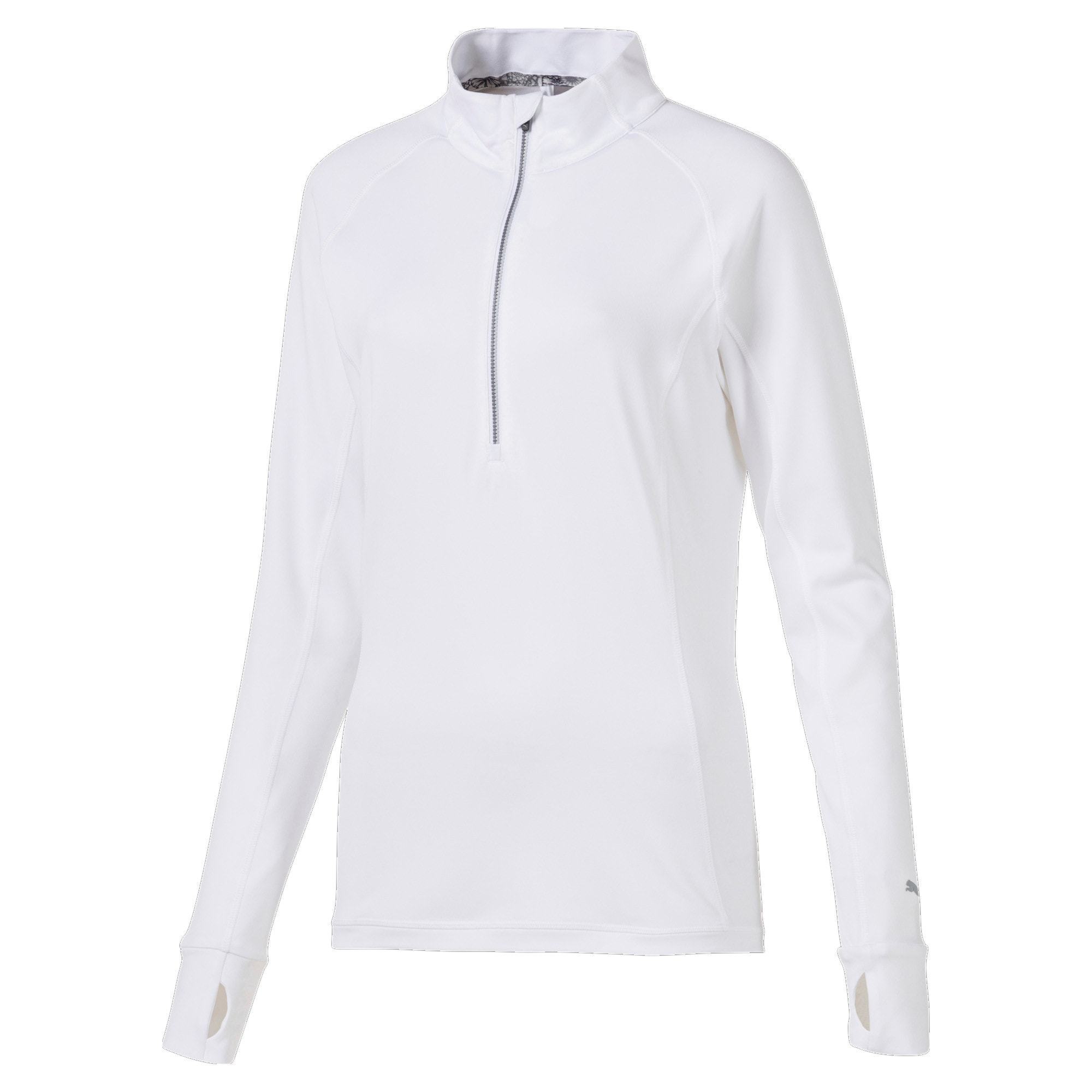 Rotation 1/4 Zip Damen Golf Pullover, Bright White, large