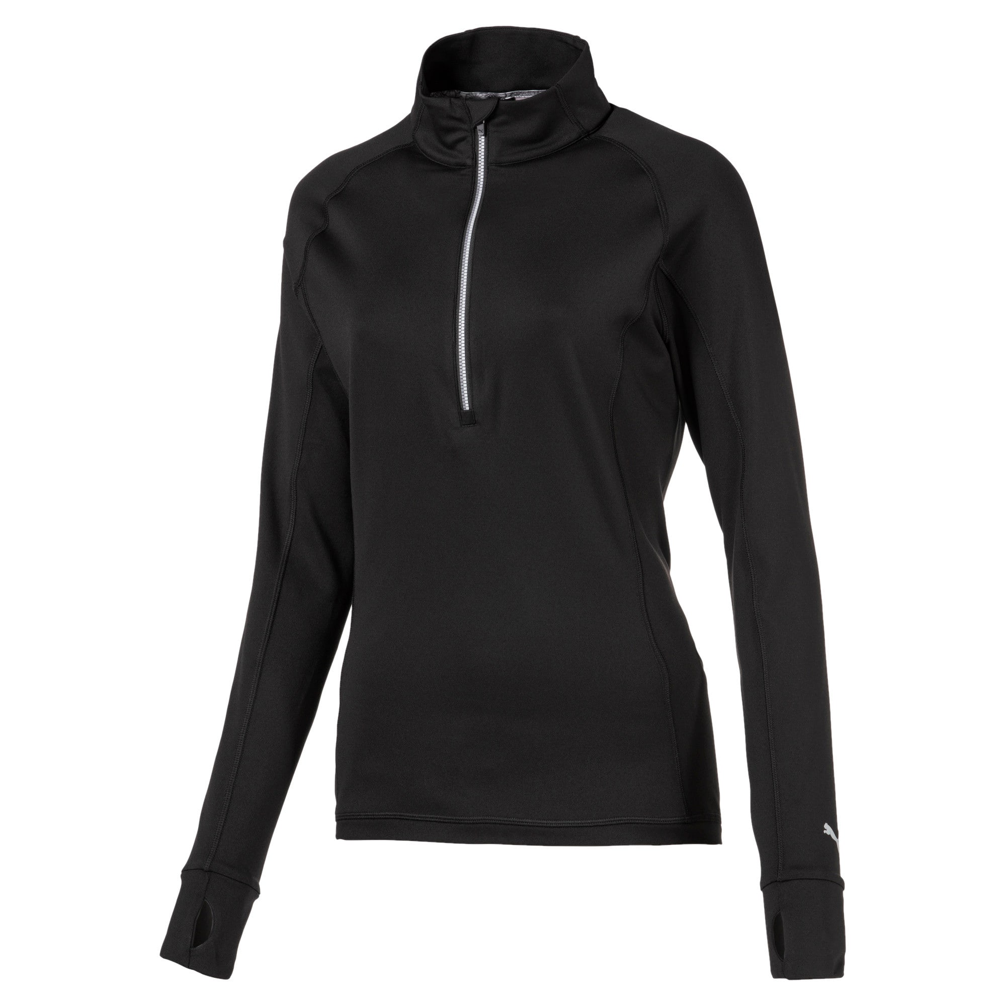 Rotation 1/4 Zip Women's Golf Pullover, Puma Black, large