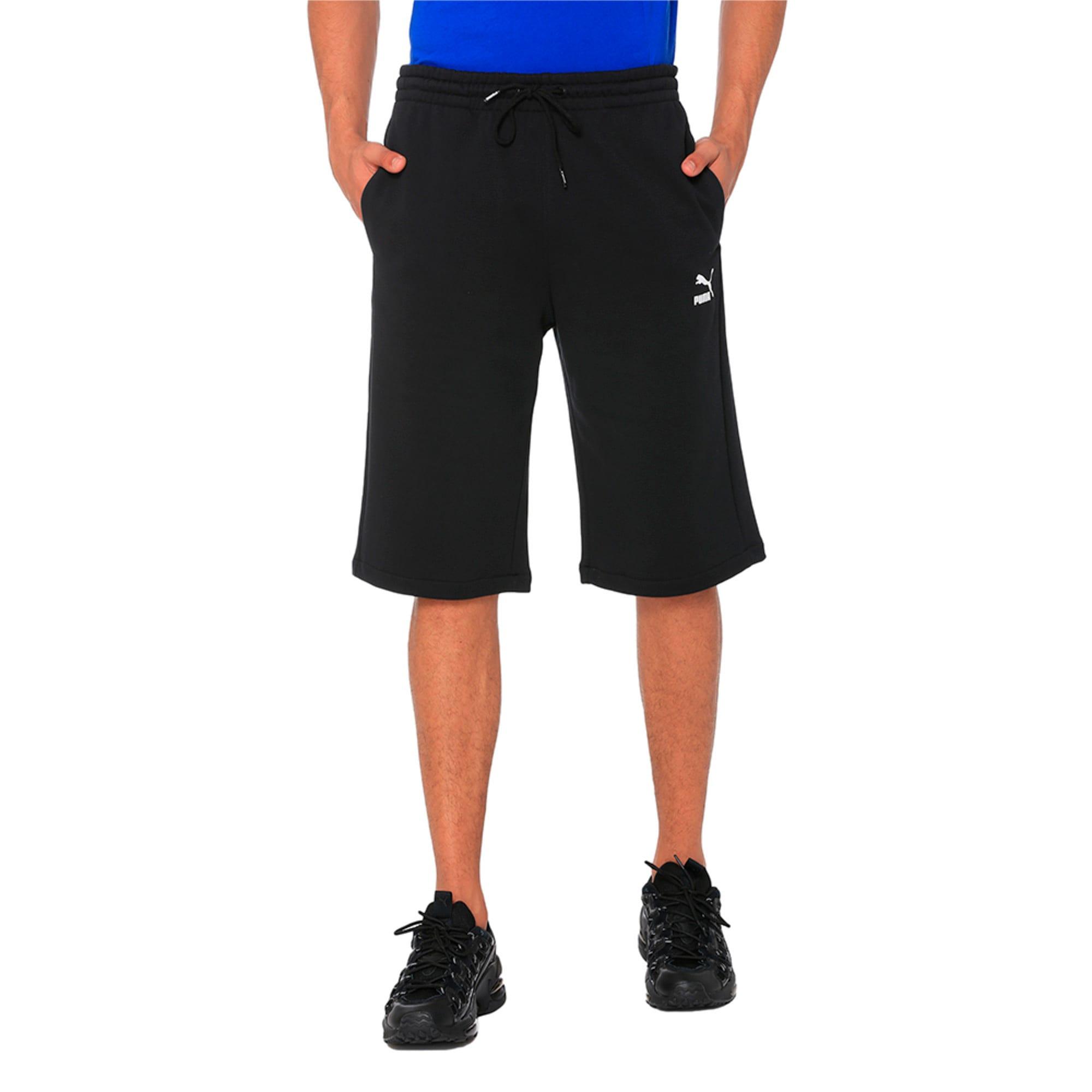 "Thumbnail 4 of Classics Logo 12"" Men's Shorts, Cotton Black, medium-IND"