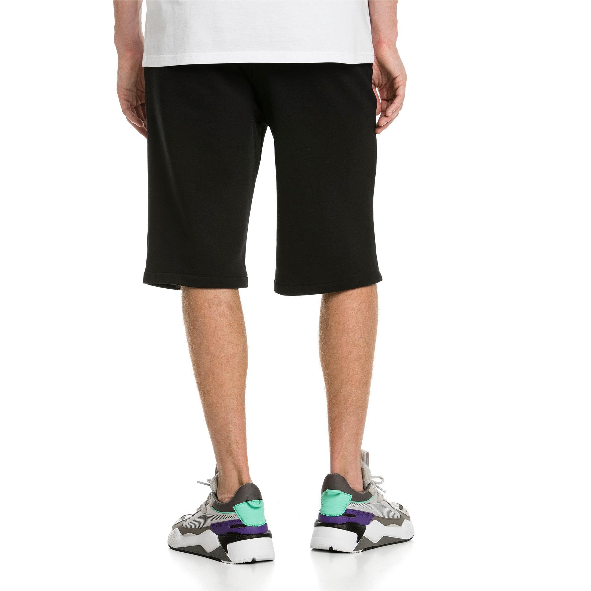 "Thumbnail 2 of Classics Logo 12"" Men's Shorts, Cotton Black, medium-IND"