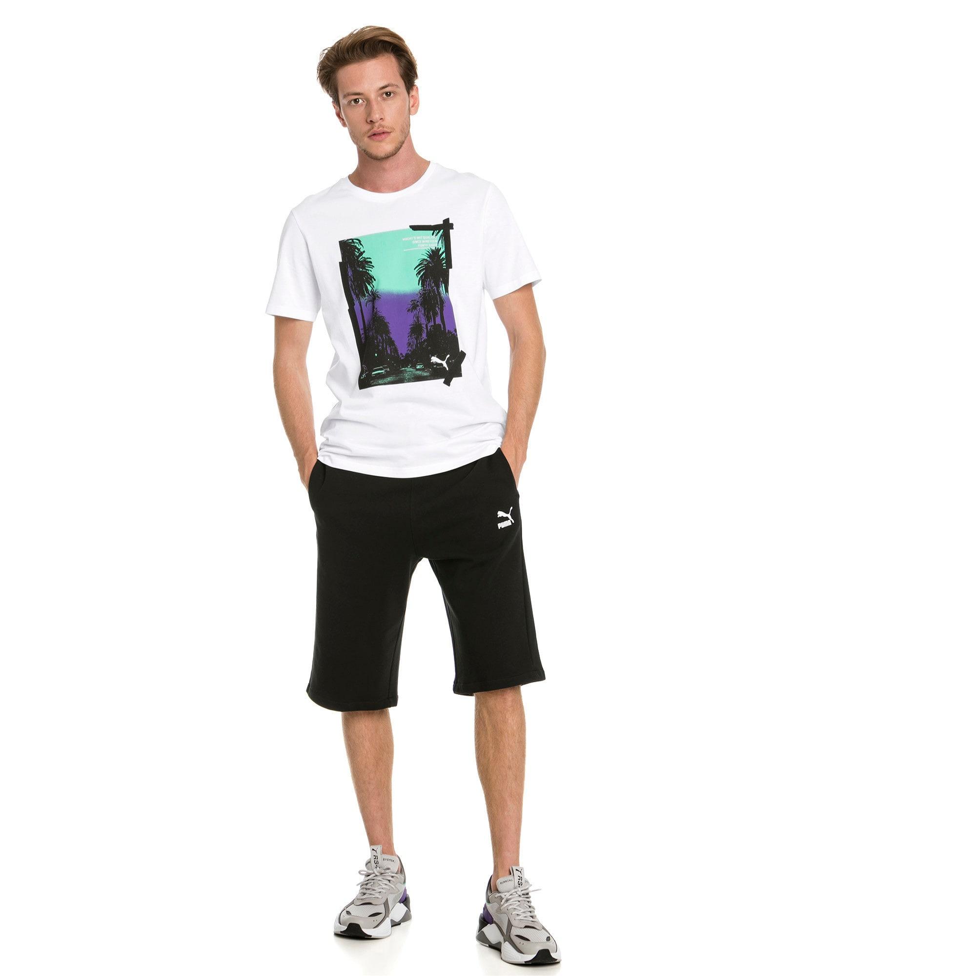 "Thumbnail 3 of Classics Logo 12"" Men's Shorts, Cotton Black, medium-IND"
