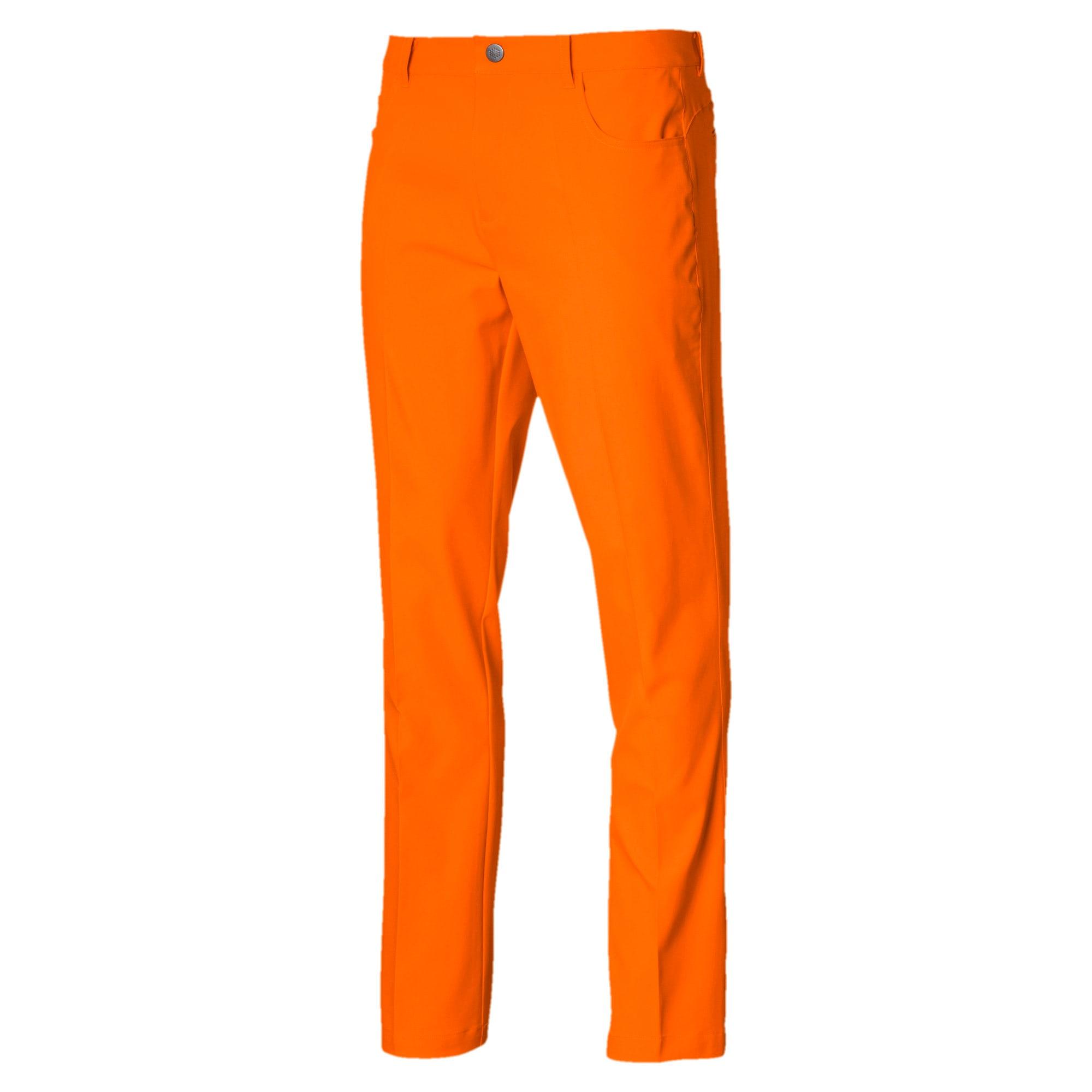 Thumbnail 1 van Geweven Jackpot golfbroek met 5 zakken voor mannen, Vibrant Orange, medium