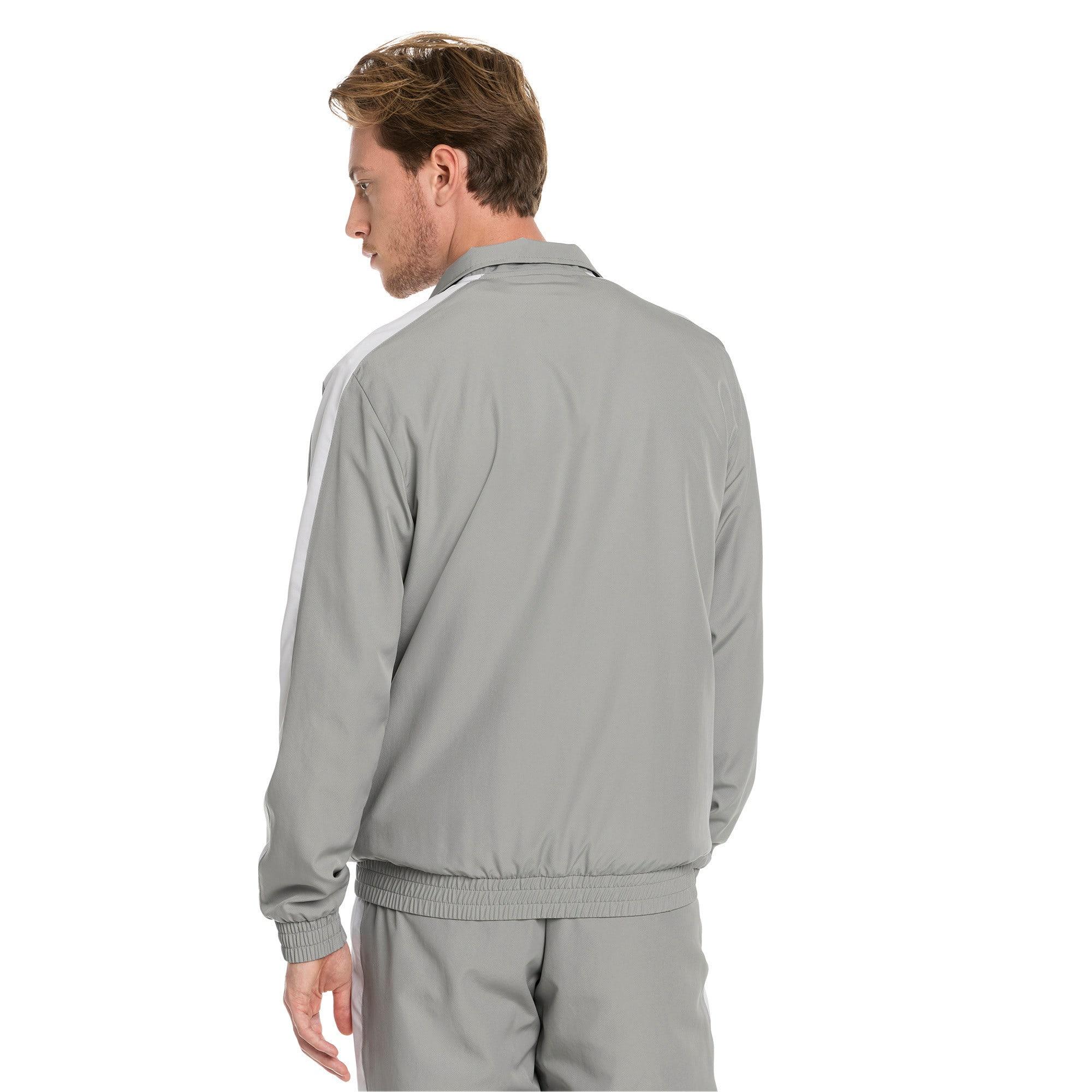 Thumbnail 3 of Iconic T7 Woven Men's Track Jacket, Limestone, medium-IND