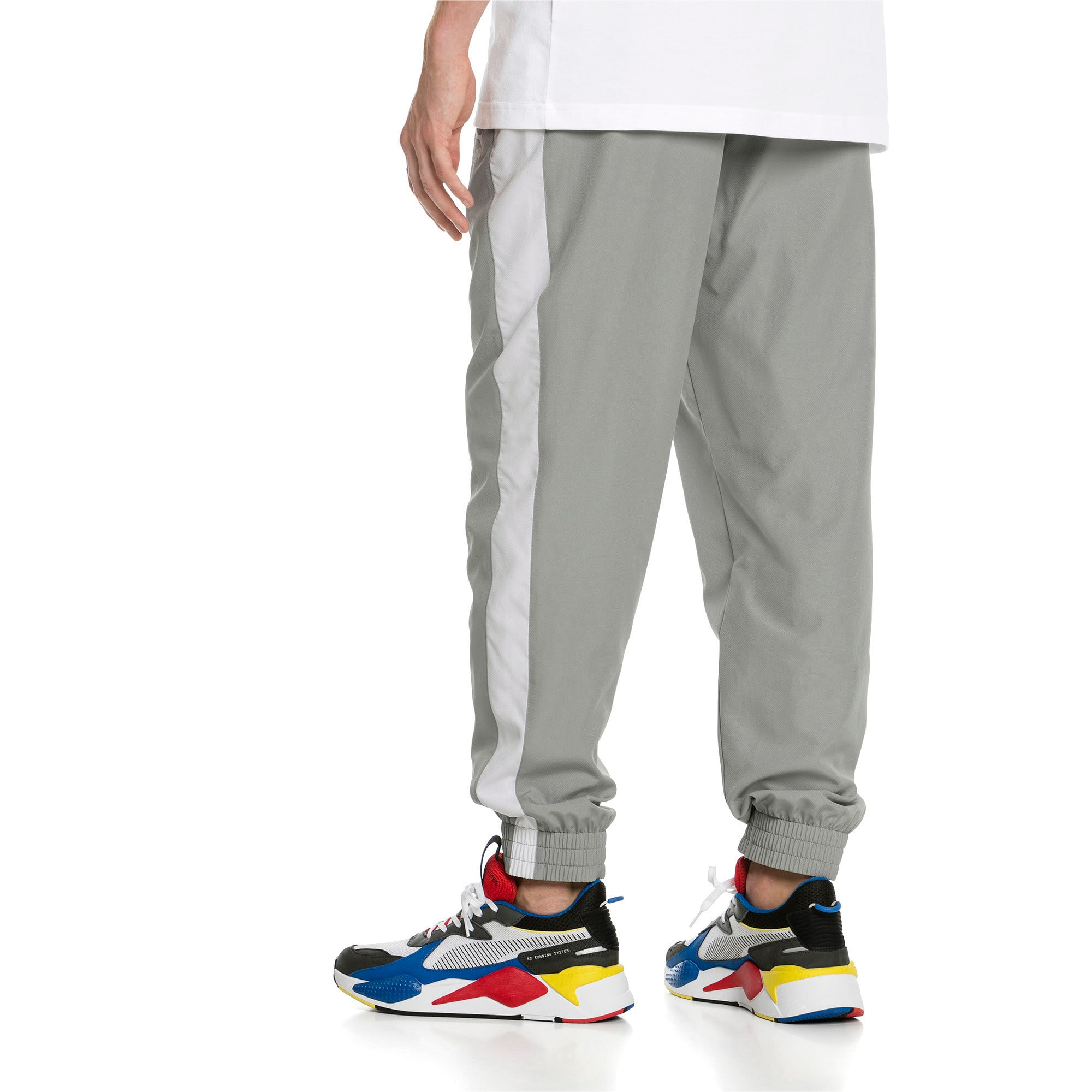 Thumbnail 3 of Iconic T7 Woven Men's Sweatpants, Limestone, medium-IND