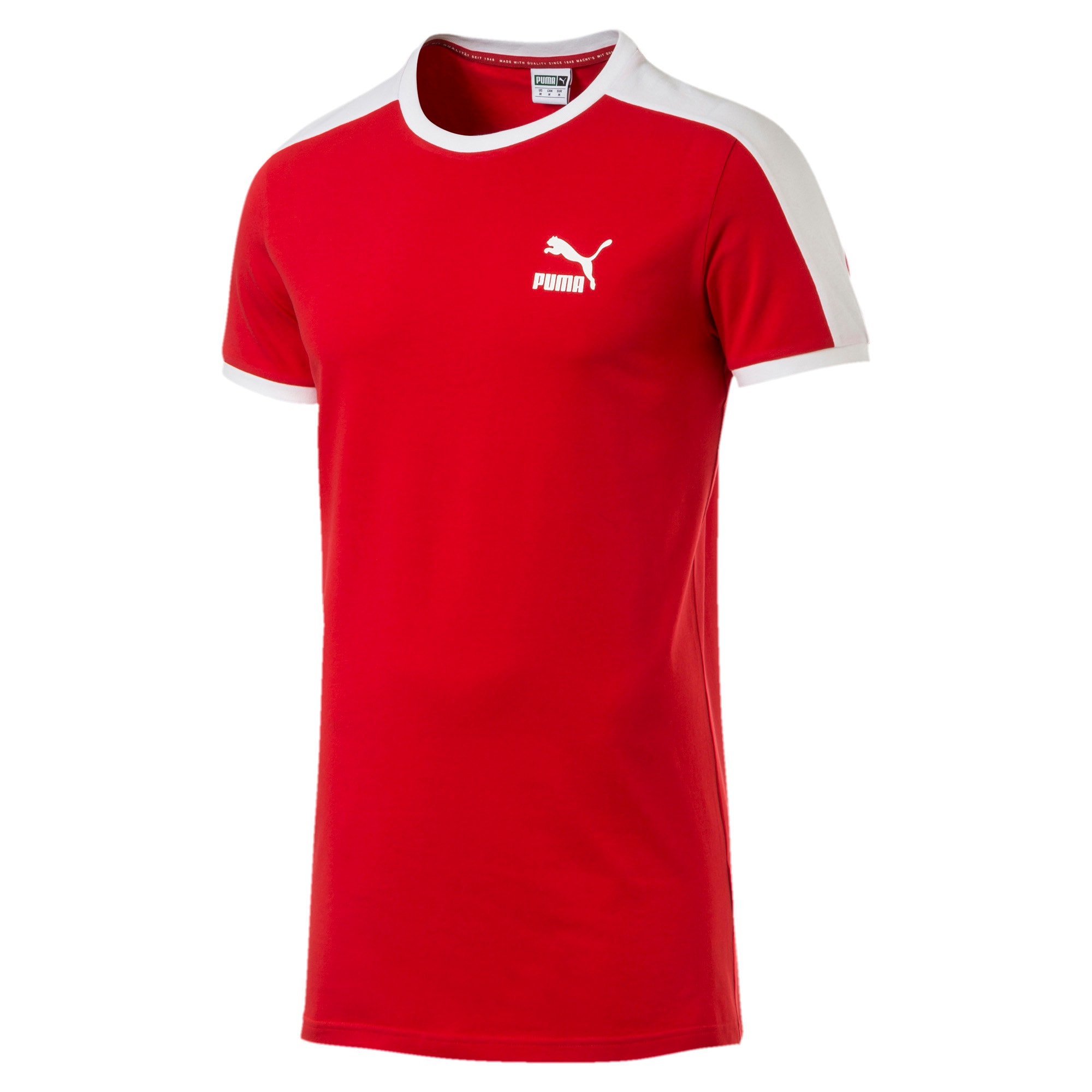 Thumbnail 4 of Iconic T7 Slim Men's Tee, High Risk Red, medium-IND